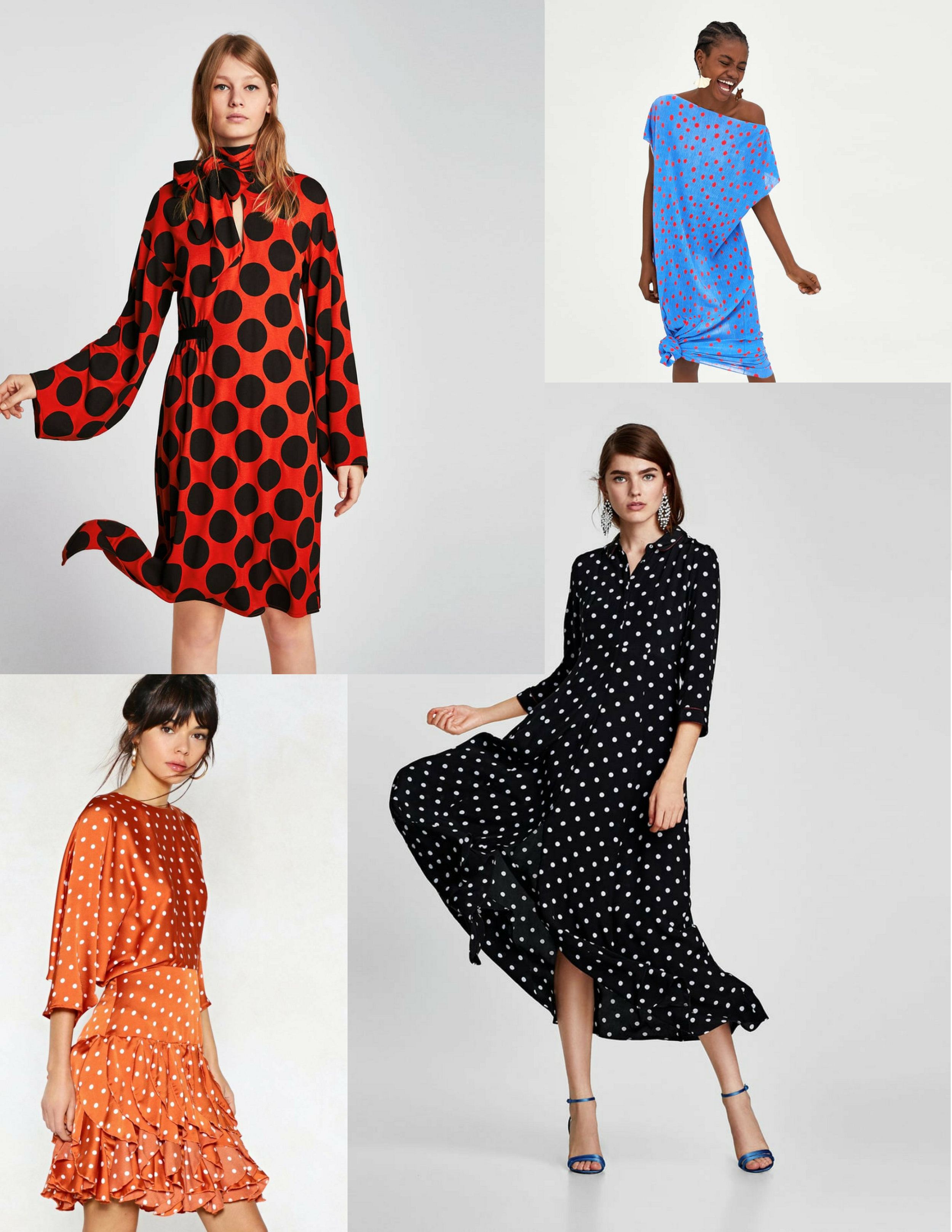 Selection of Polka Dot Dress from      Zara