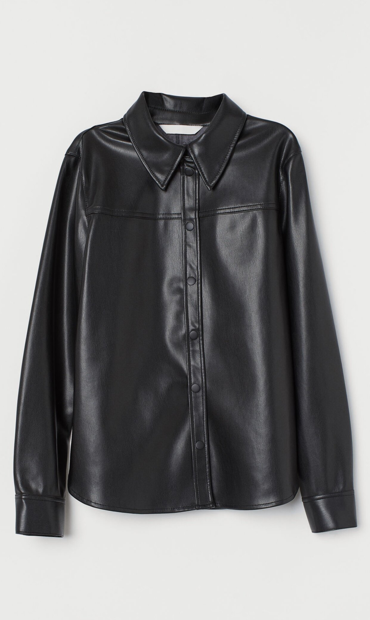 IMITATION LEATHER SHIRT
