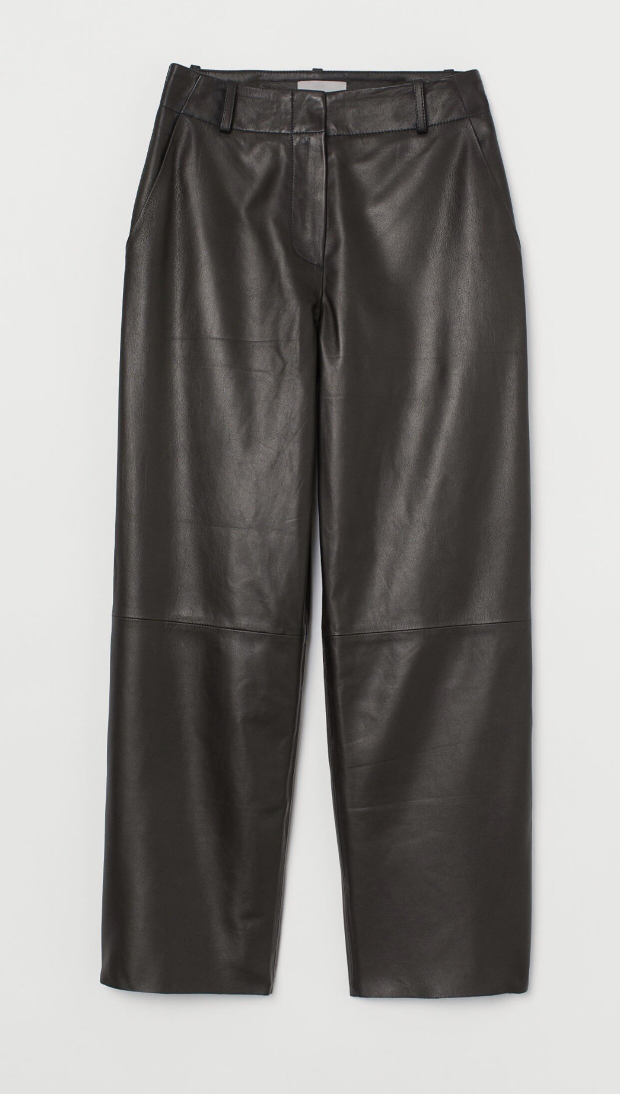 STRAIGHT LEATHER TROUSERS