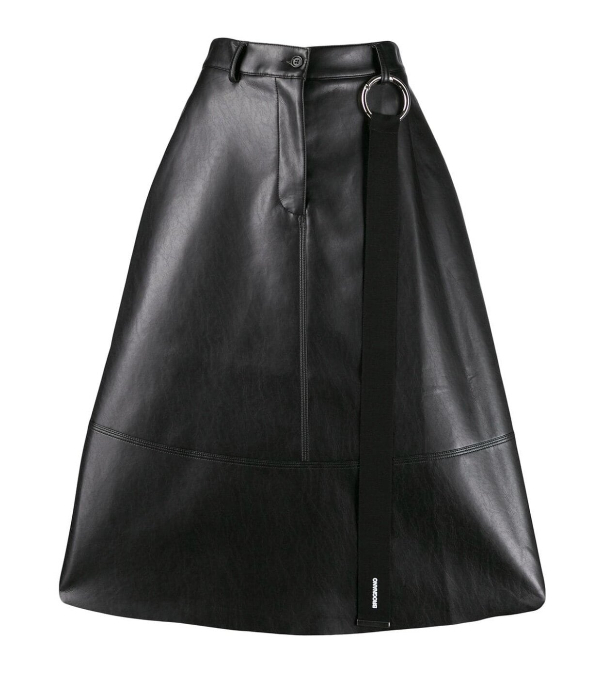 BROGNANO - FAUX LEATHER FLARED SKIRT
