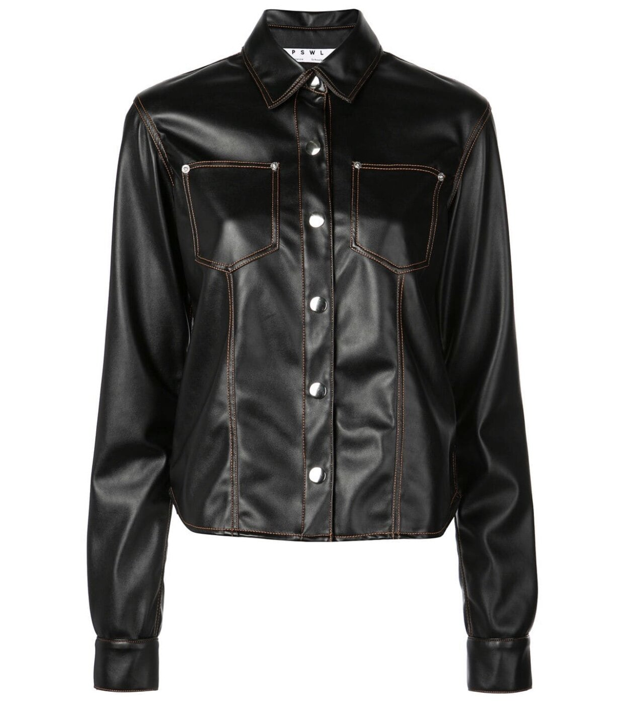 PROENZA SCHOULER - FAUX LEATHER SHIRT