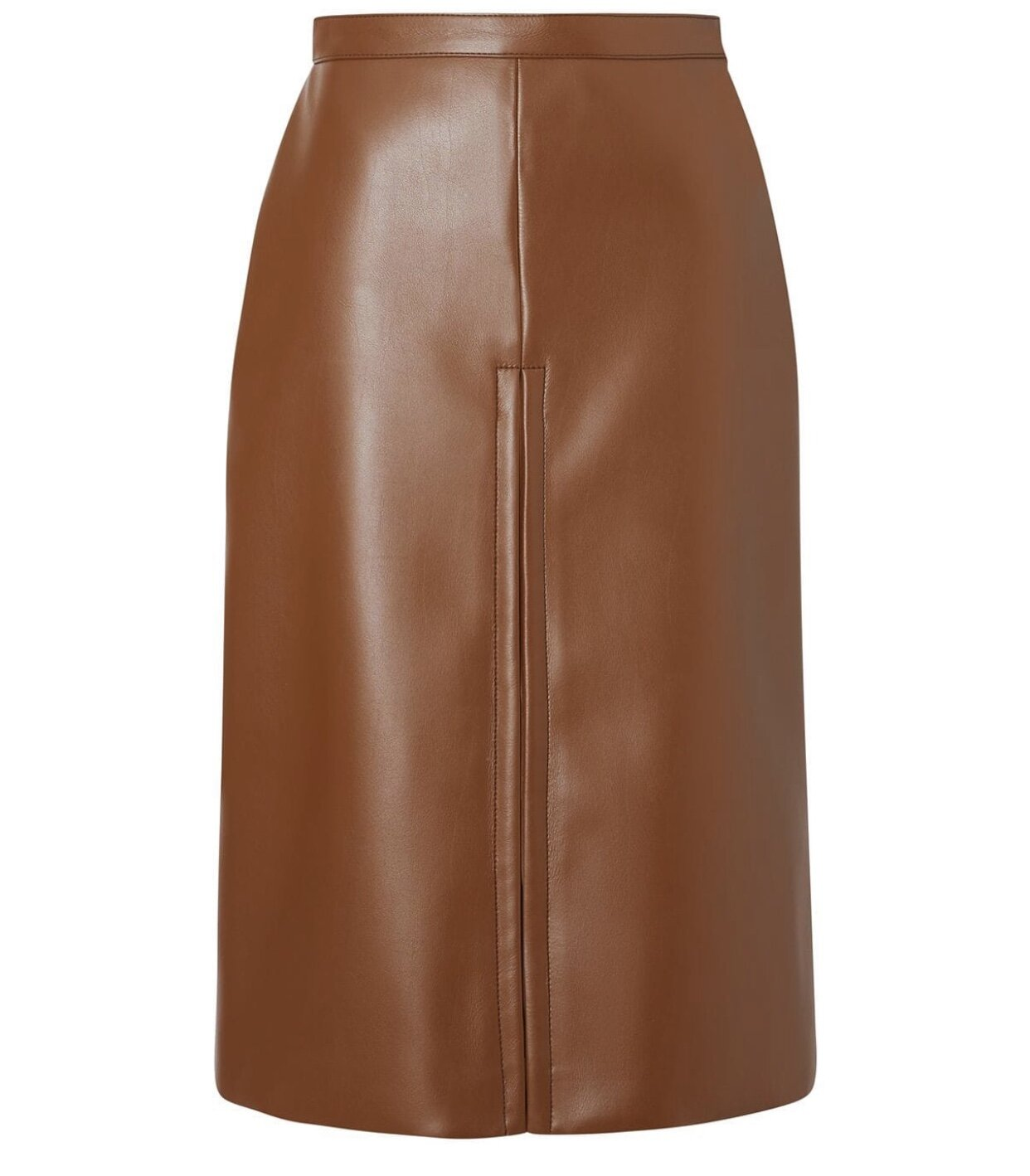 BURBERRY - FAUX LEATHER SKIRT