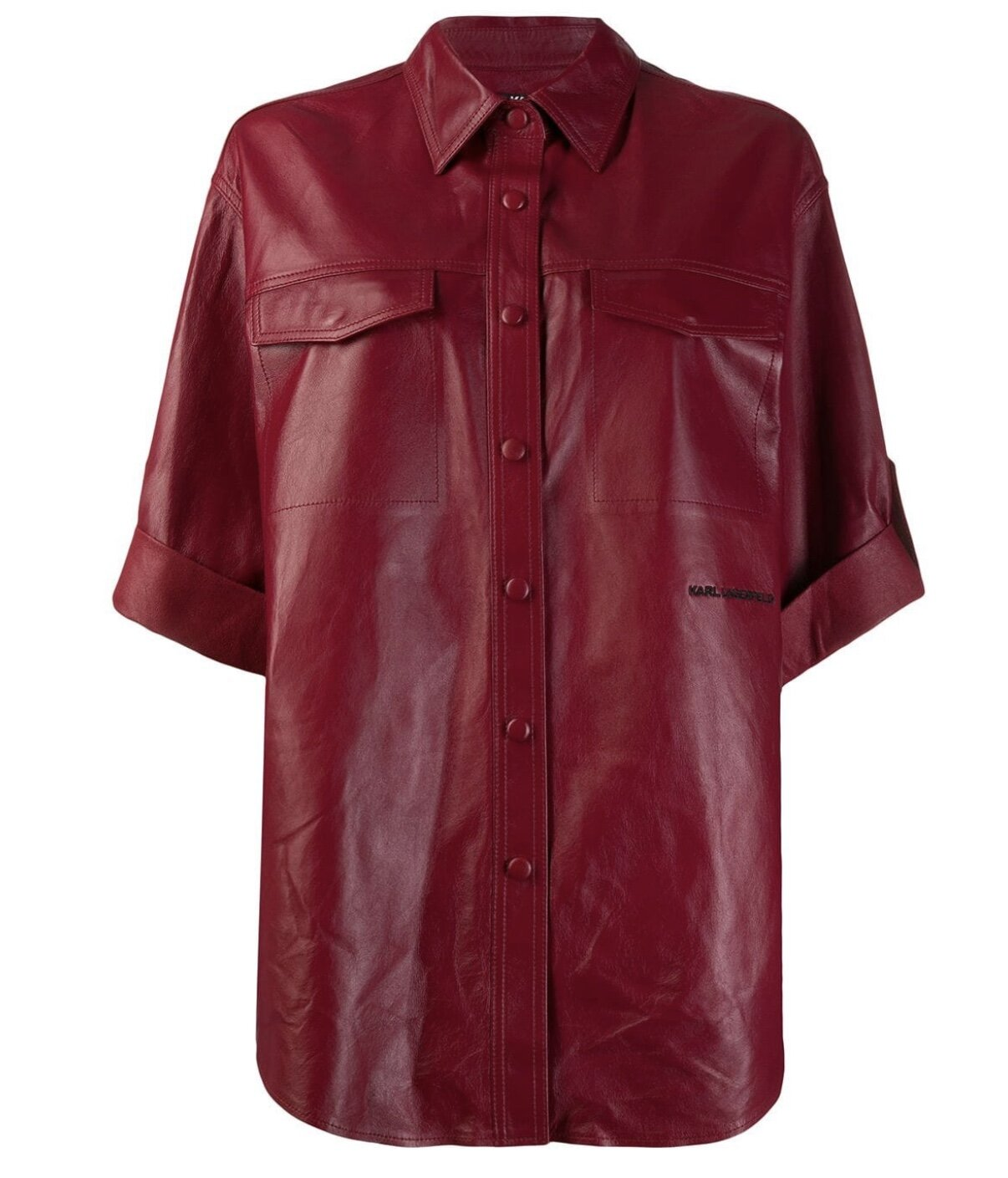 KARL LAGERFIELD - LEATHER SHIRT