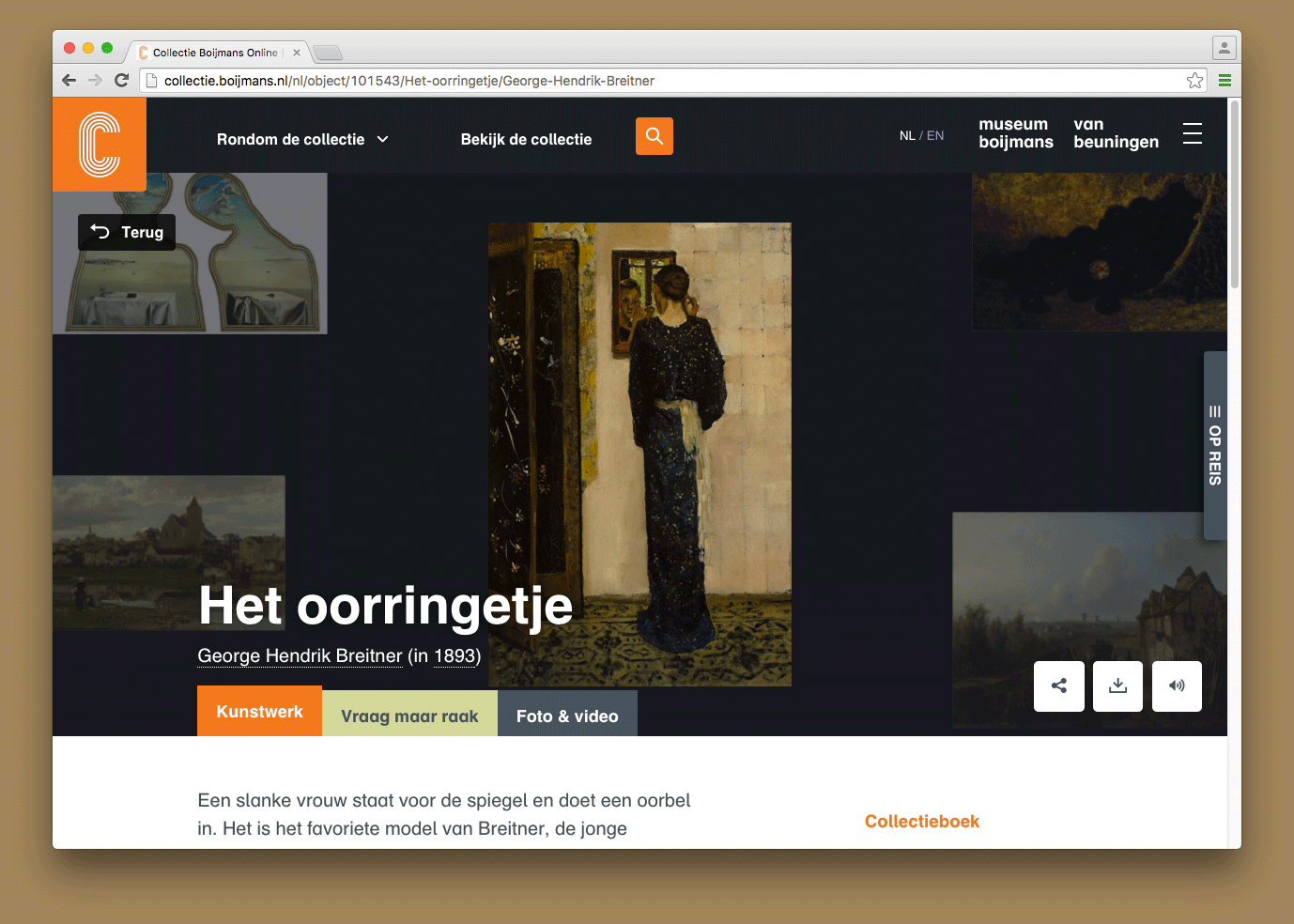 Artwork page