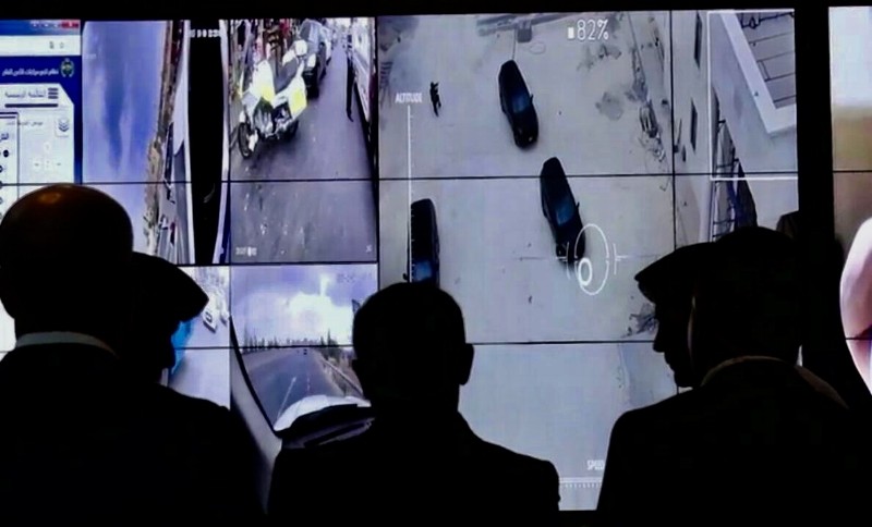 Control and view the drone's aerial footage right from the command center.