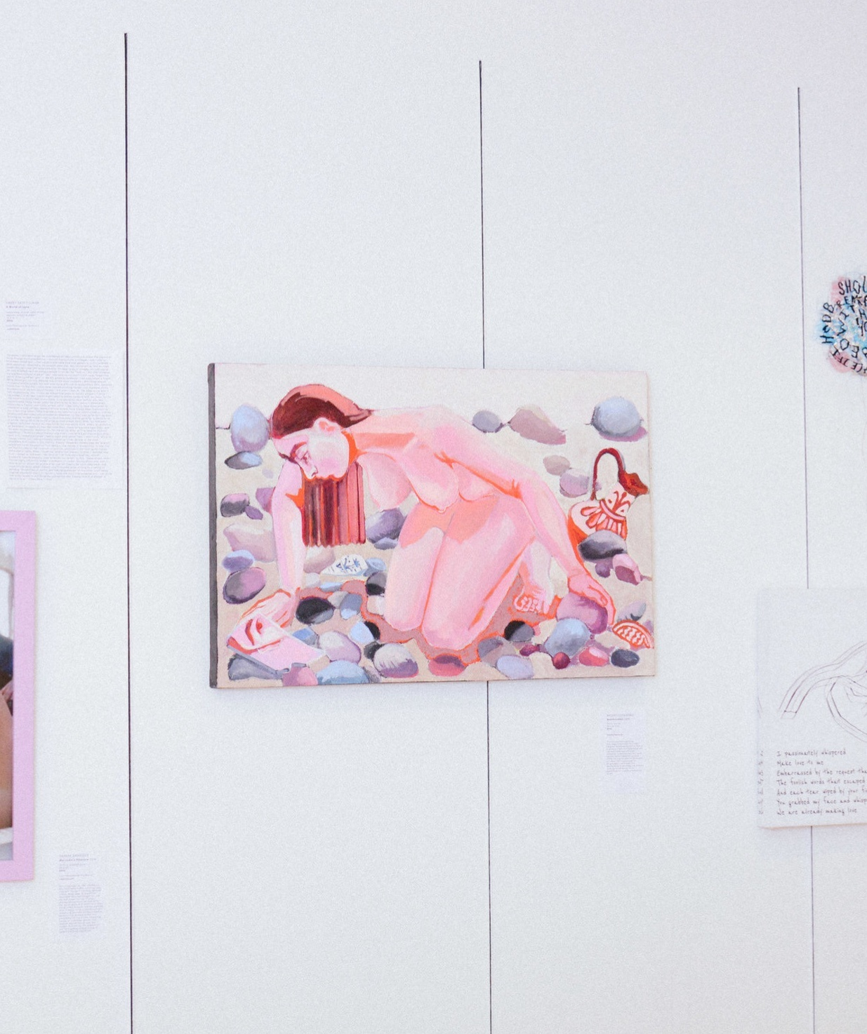 Rachel Loyacono, Beachcomber, 2018, Oil on canvas, 30.5x20in. $725