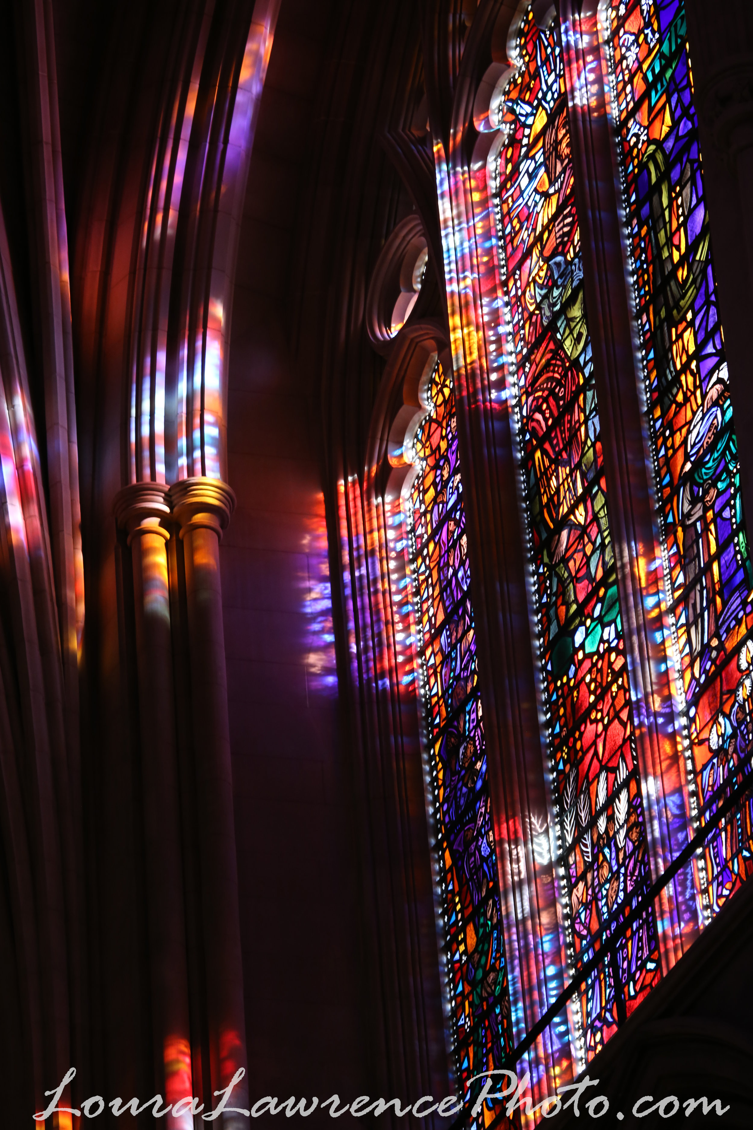 Stained glass windows at The National Cathedral, Washington D.C.