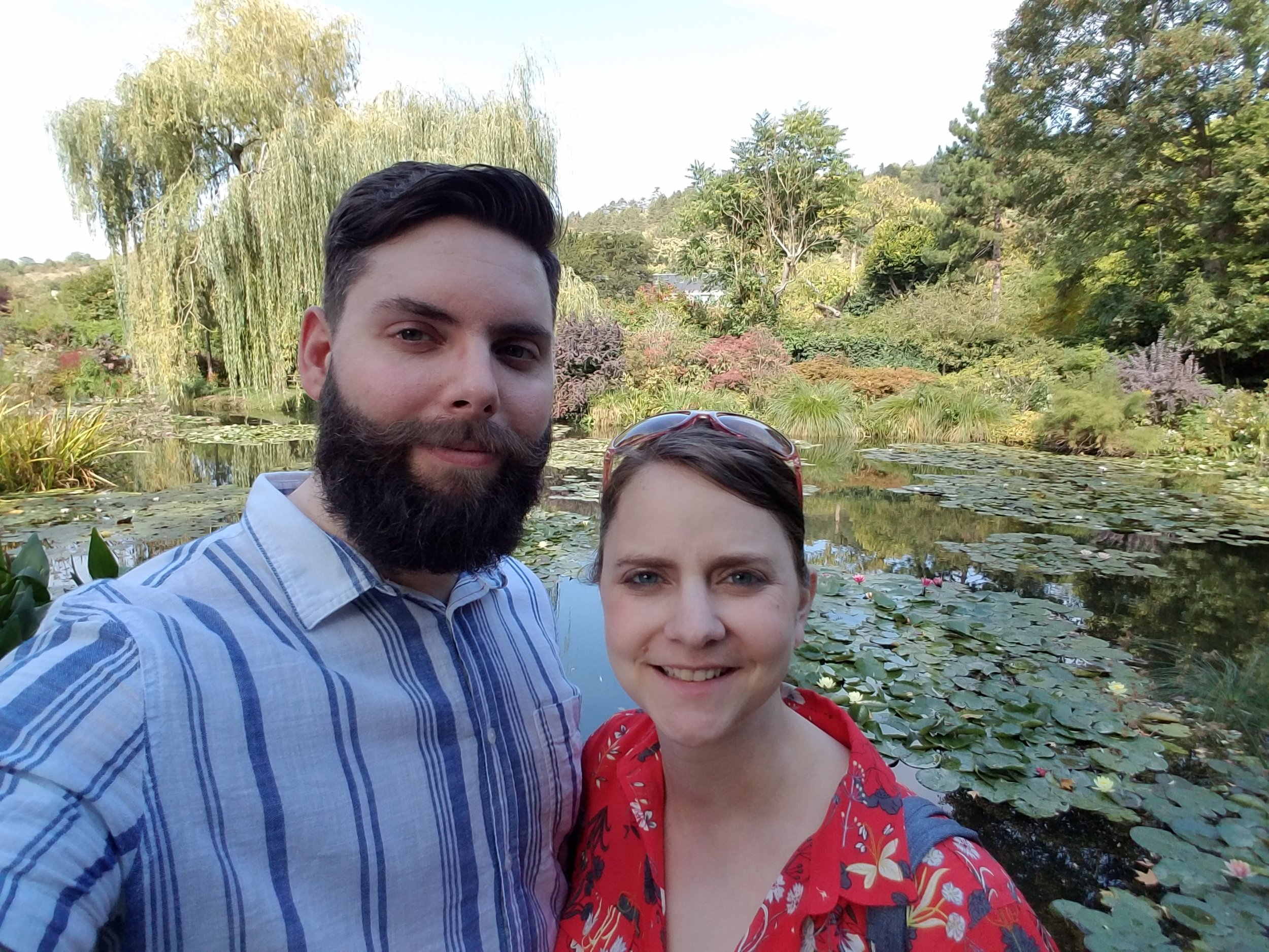 Tyler and I at the Giverny gardens