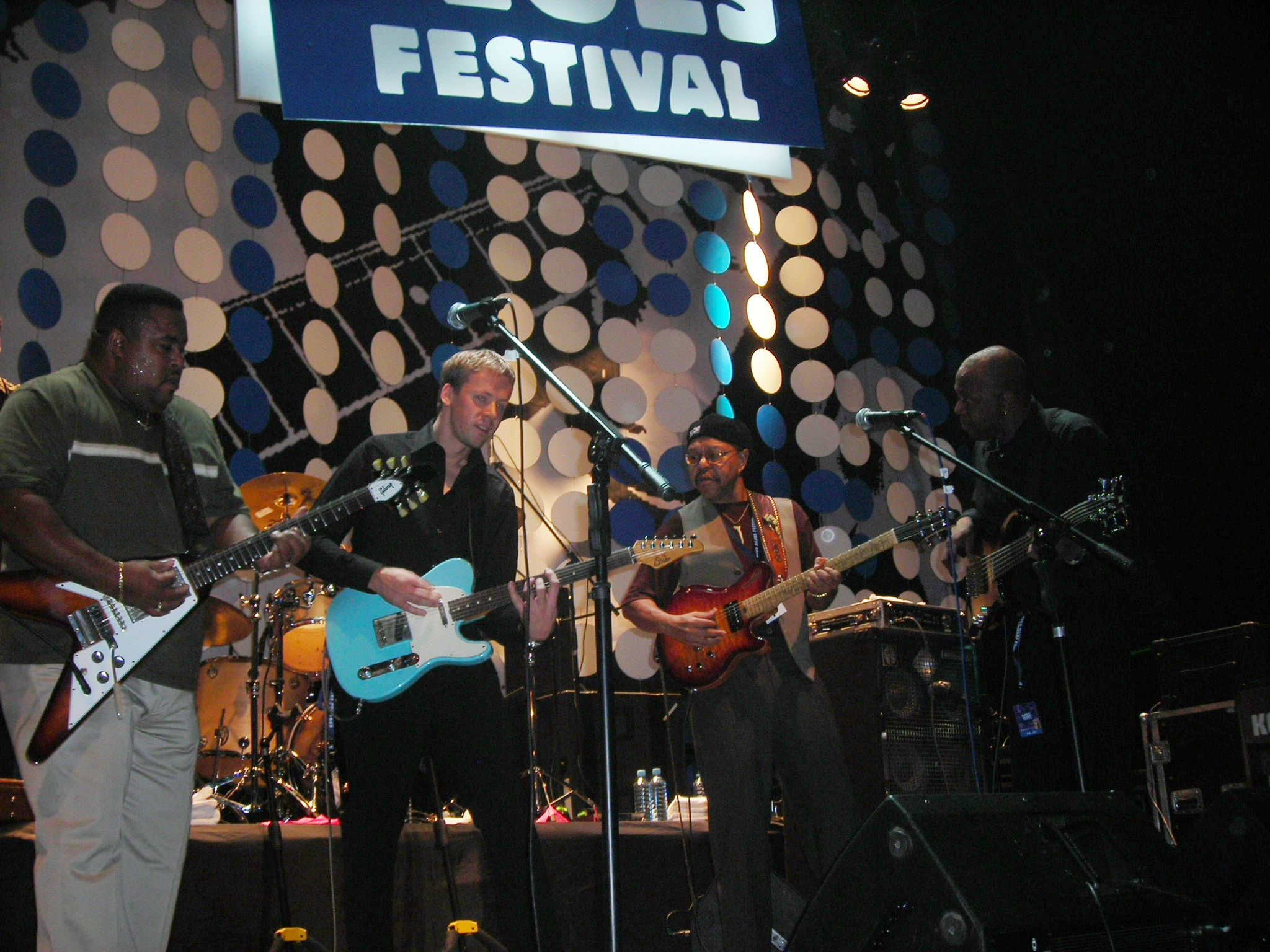 Efes Blues Festival - a memorable stint in Russia that took us to St. Petersburg and Moscow in 2010. I'm sharing the stage with Larry Mc Cray, Larry Garner and Larry Garner's bass player, Shedrick Nellon