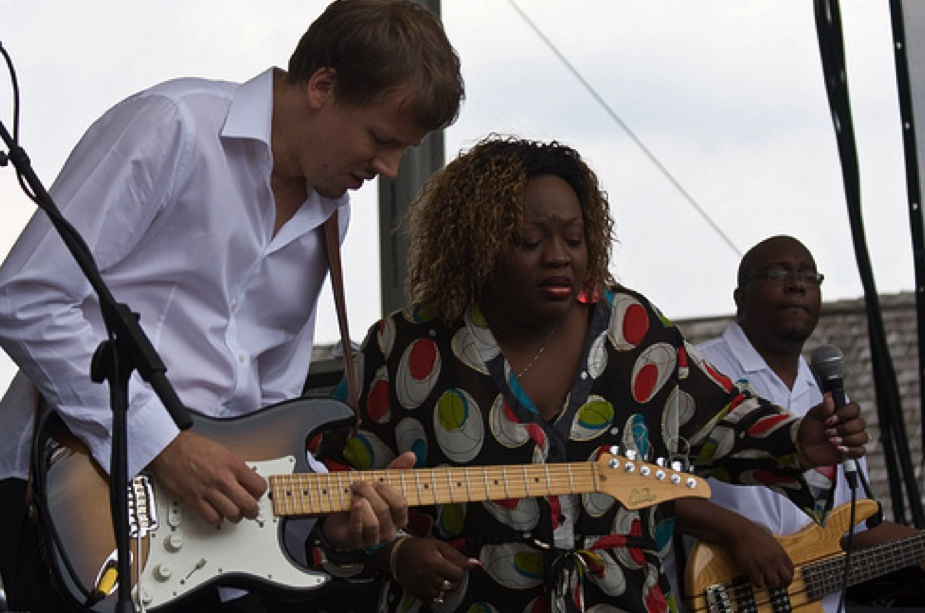 Pocono's Blues Fest - Pennsylvania, with Sharrie Williams in 2010.
