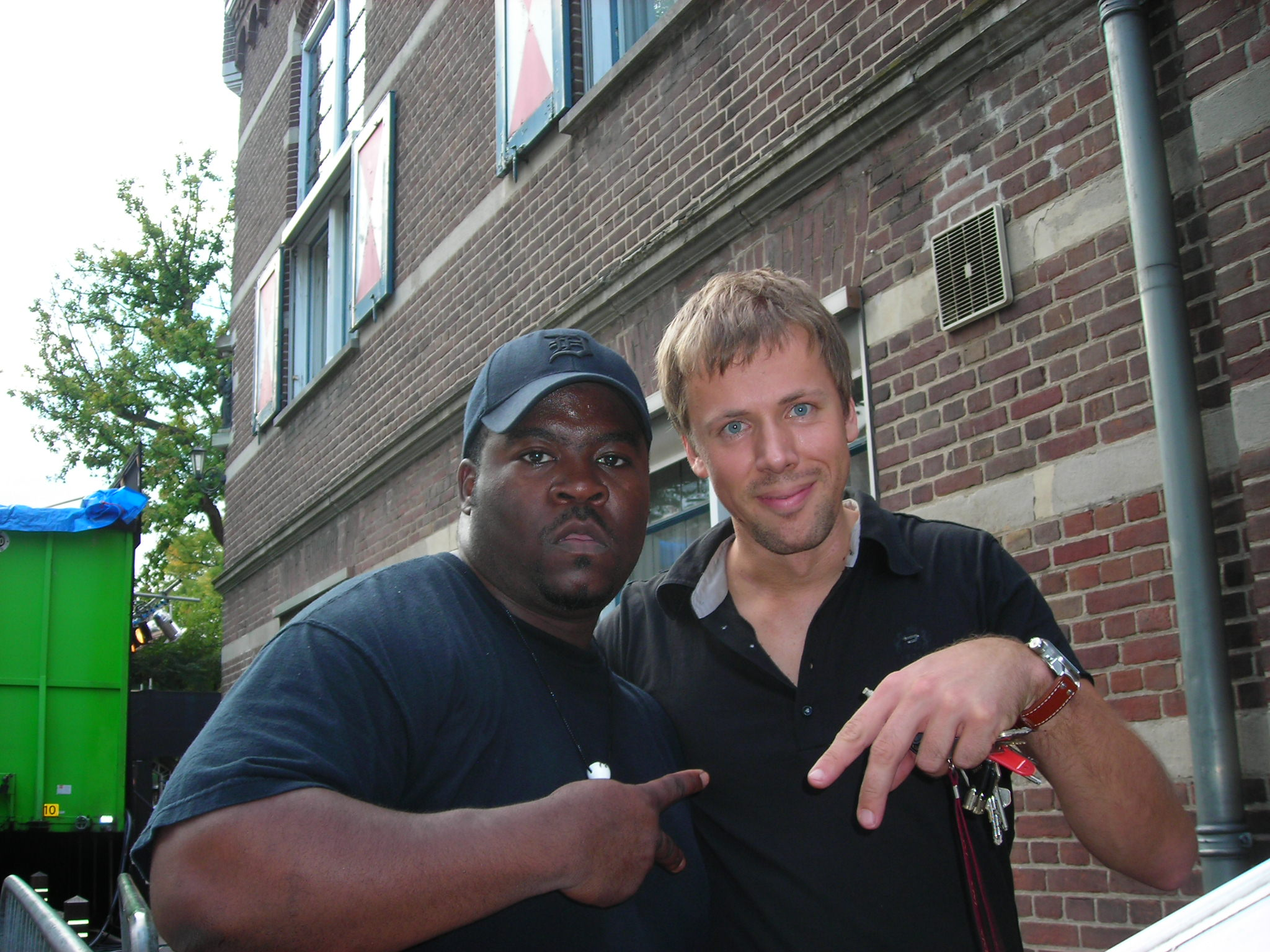 on tour - 2011 in the Netherlands with Chris Coleman, who played drums on my first album.