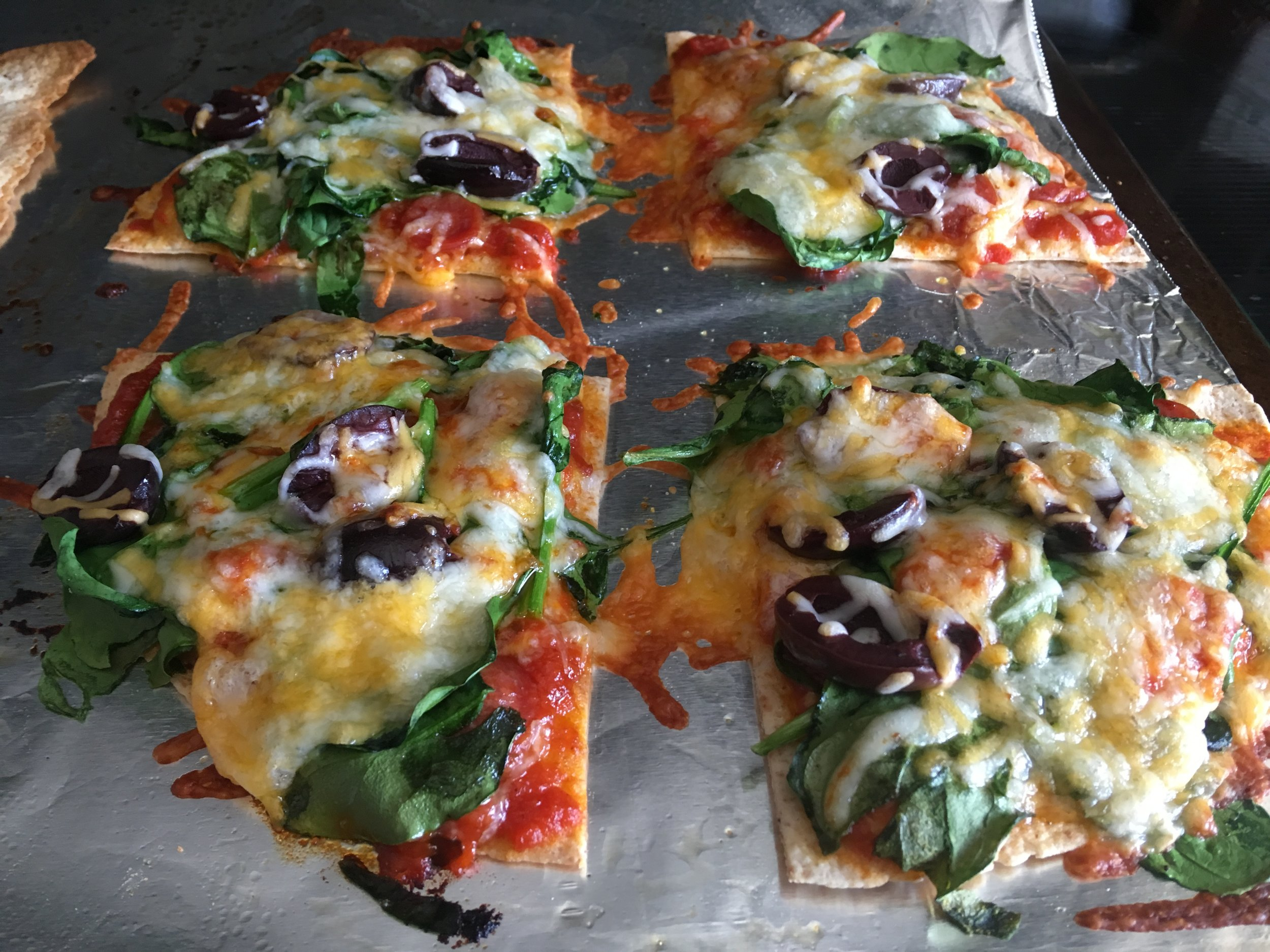 The Classic - 1 Ole Health & Wellness Tortilla1/8 cup Rao's Pizza Sauce1 serving Pepperonis1 serving Kalamata Olives1/2 cup Spinach1/2 cup Shredded Cheese