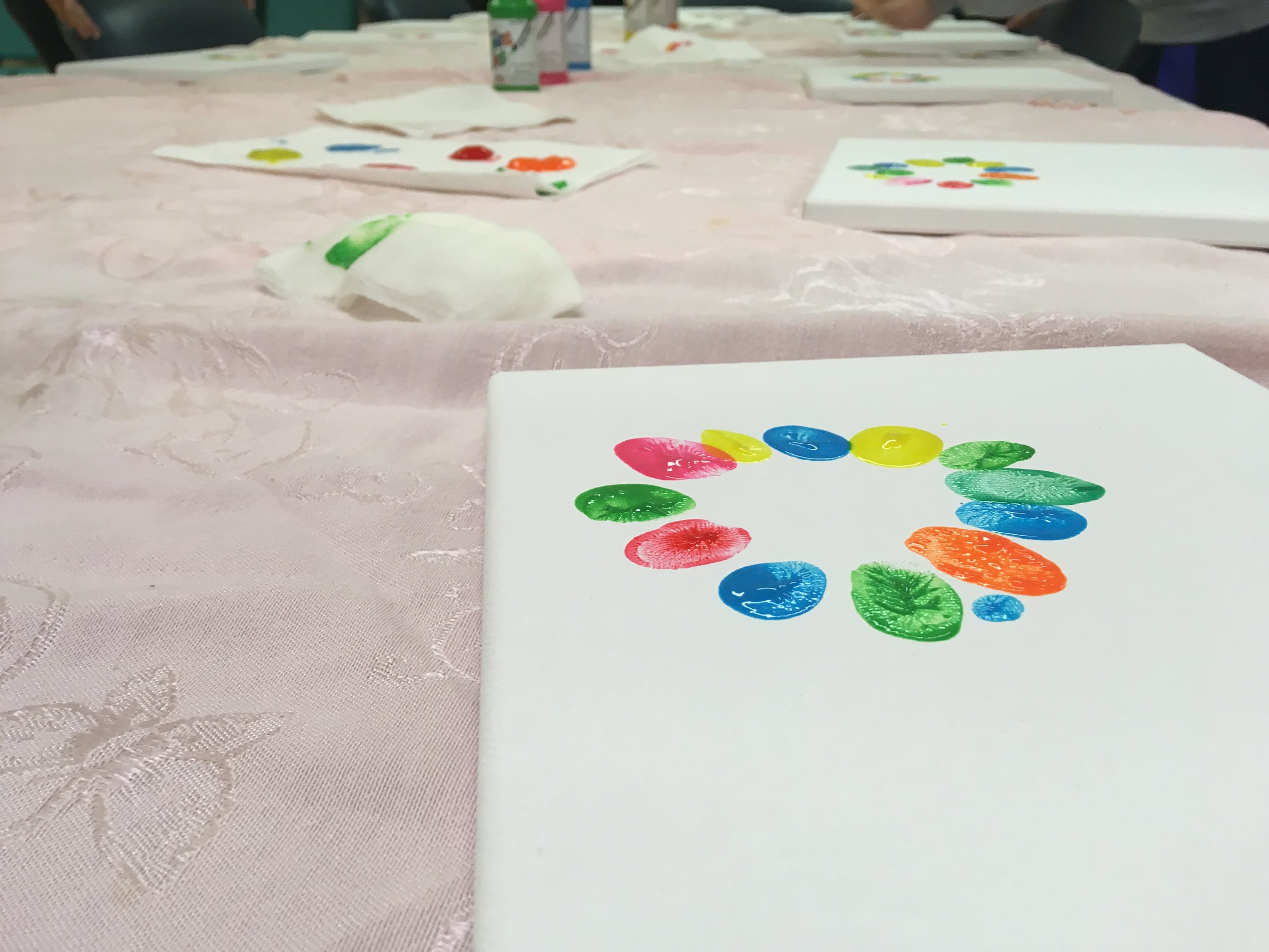 Step 2 - Once everyone has finished fingerprinting, you can personalize your canvas!