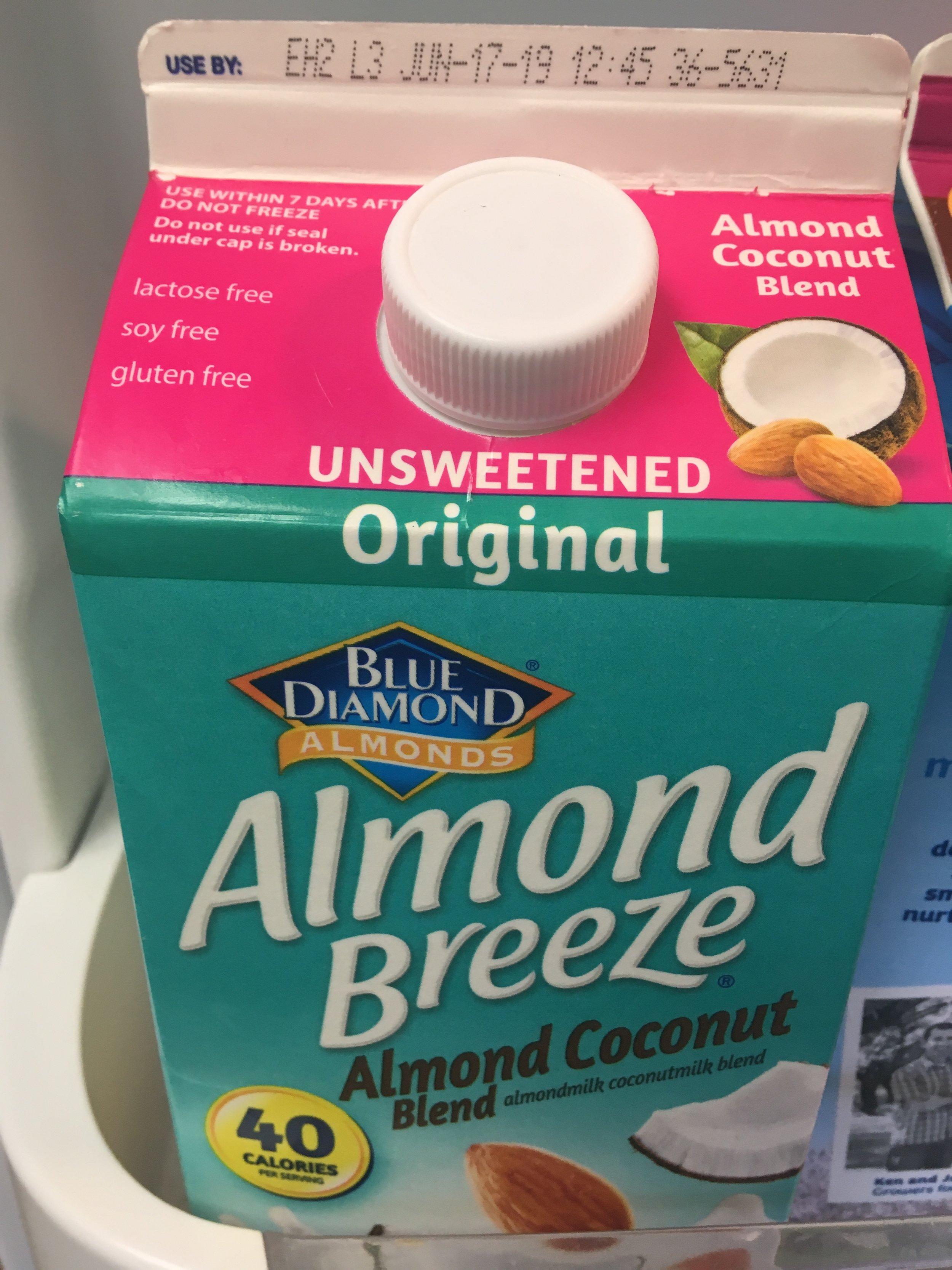 Unsweetened Coconut Almond Milk - Blue Diamond is so good!