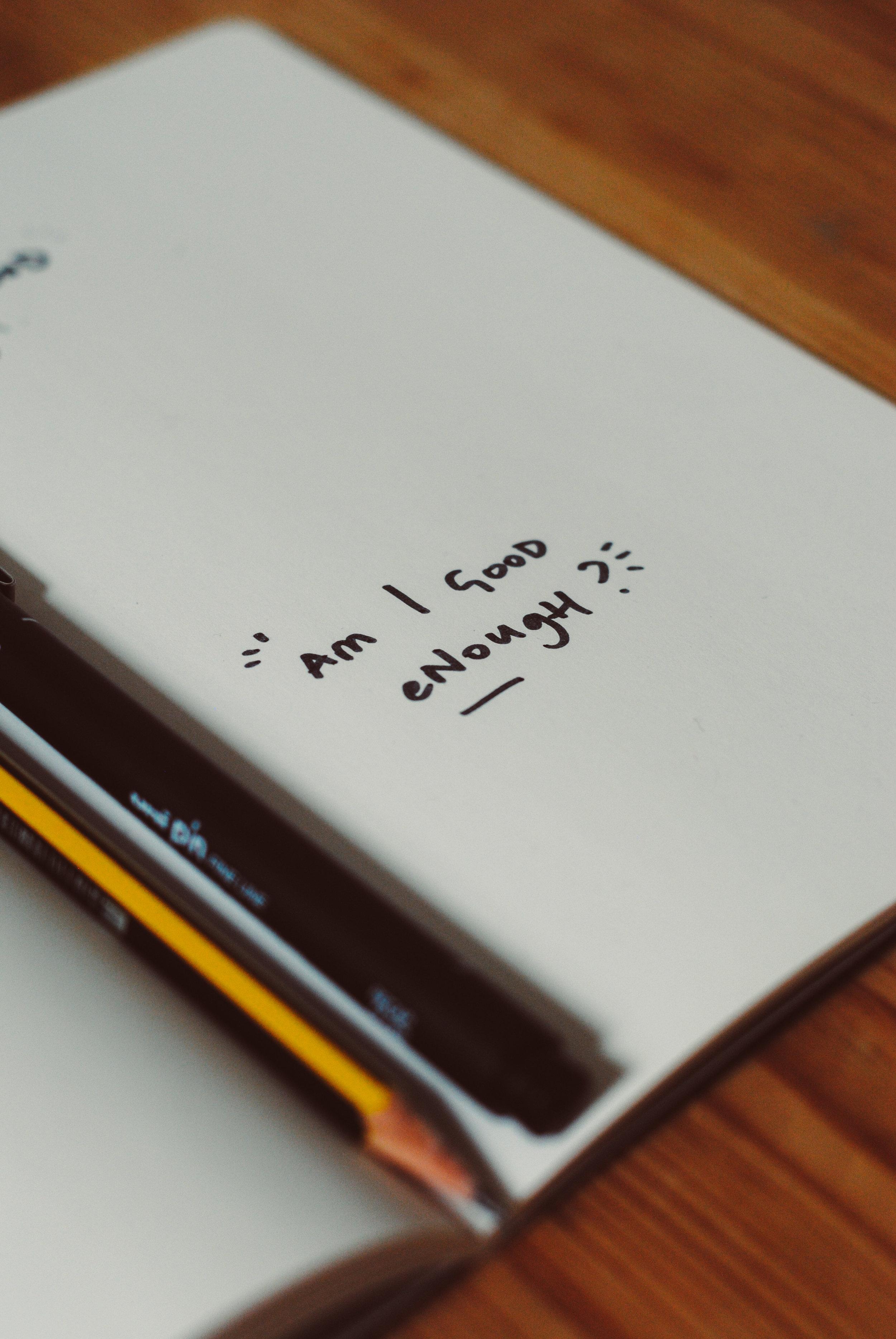 am i good enough notebook