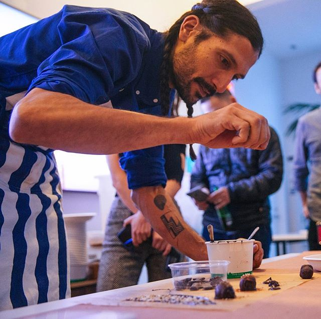 I have so much love and respect for @mdltfood both as a chef and as a human 🙏🙏🙏✨ We collaborated on over 10 events together last year, with many more to come this year...next up being a custom hot sauce tasting experience (he makes his own lacto-fermented hot sauces!). He approaches his food with so much love that you can taste in every bite, using flavor combinations filled with surprise and soul. I've become an immensely more intuitive and caring home cook through spending time with him. I've also become a much better event producer, because it's such a privilege to work with someone who takes so much care and responsibility as a chef.  You should most definitely check out one of his regular Mexi-terranean pop ups in Oakland, and you should also follow his beautiful and mystical feed for inspiration.  Cheers chef to many more magical collaborations ✨✨✨🦄 🙏