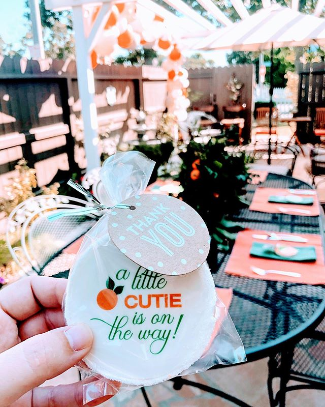 A little cutie is on the way! 🍊|| What a special day full of celebration and prayer. This might be one crazy hard season, but the difficulties won't hinder our celebration because we serve a God who makes celebration in the midst of difficulty possible.  Thank you, mama (@laura_perry) for such a beautiful shower that reminded me to find FULLNESS of joy in Jesus.