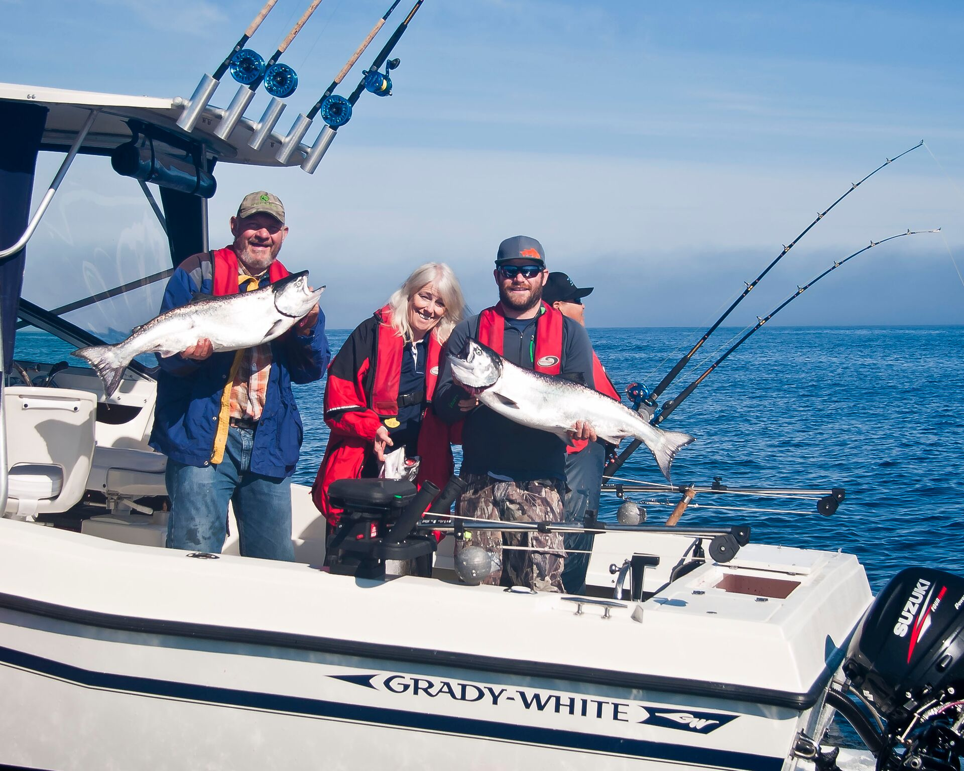 Salmon charter family trips