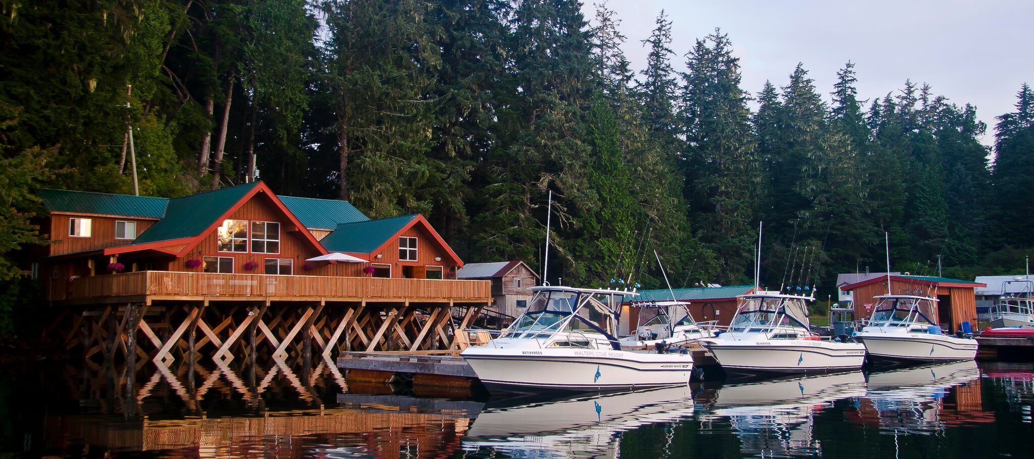 Remote fishing lodge bc