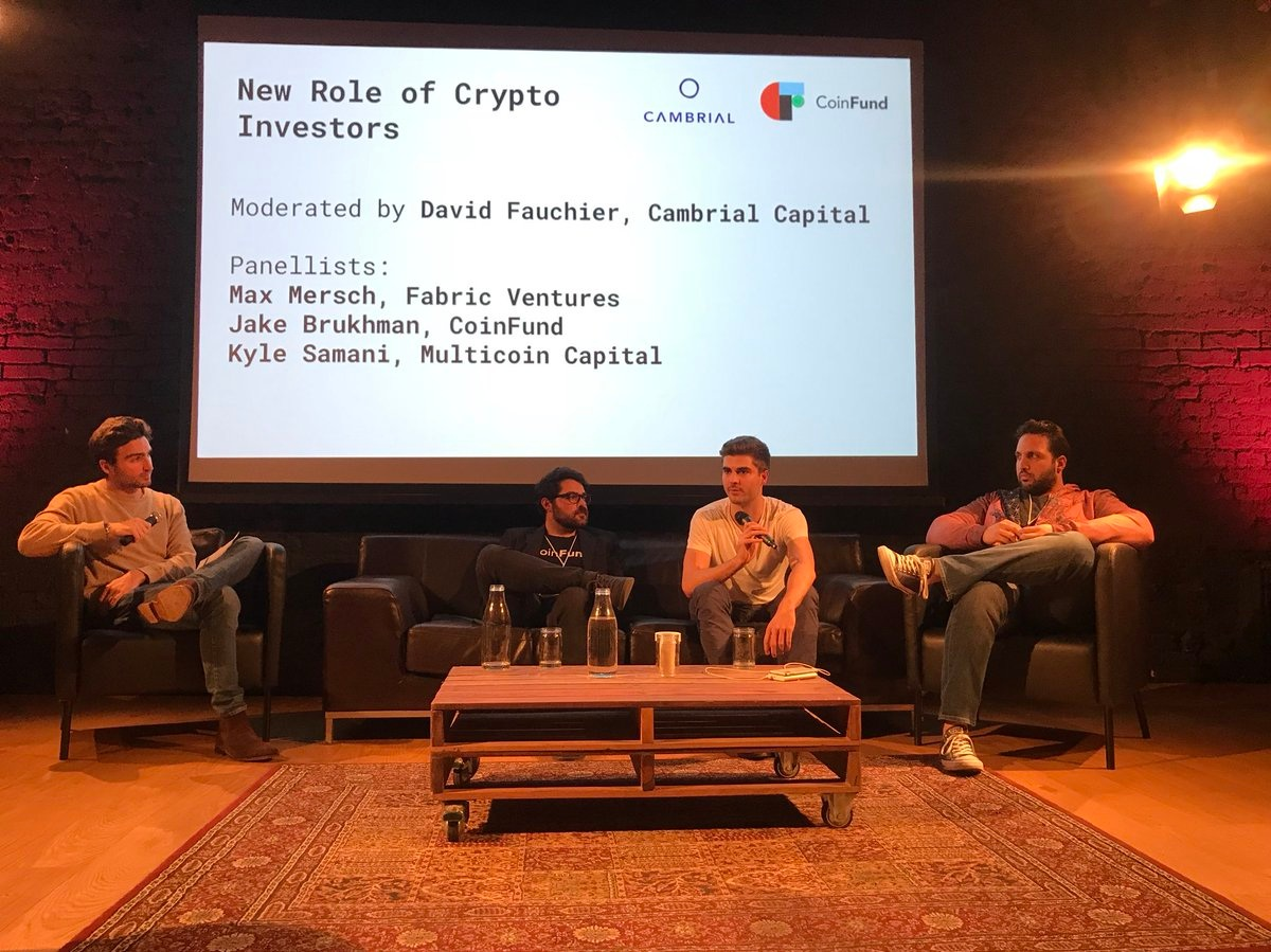 Generalised Mining - Cambrial x CoinFund - - Prague - Max shared our views on active network participation - along with David, Kyle, and Jake