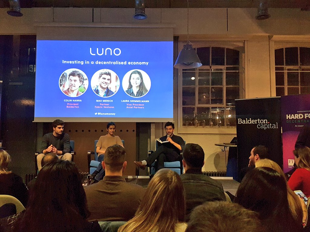 Balderton Meetup - - London -Max contributed to Balderton's panel discussion on investing in decentralised networks