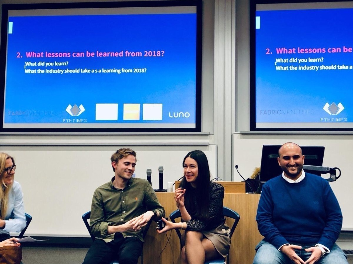 Cambridge Blockchain Society - - Cambridge | 23 Jan -Anastasiya shared her thoughts on the most exciting usecases in 2019 and beyond.