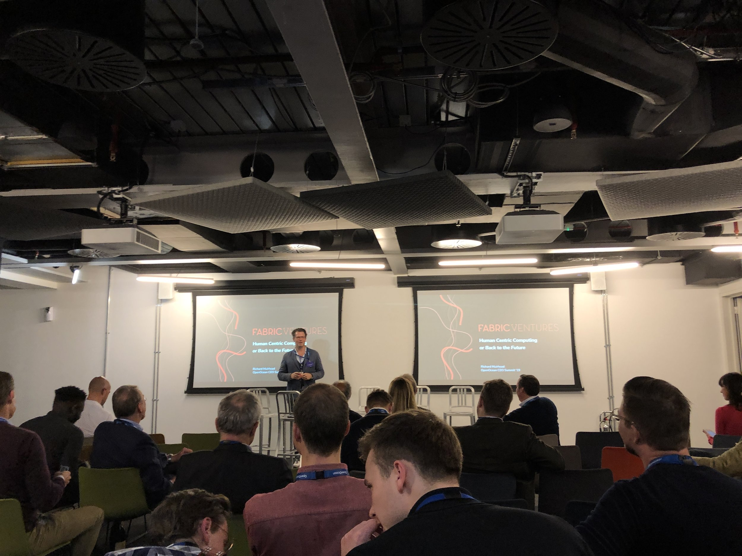 OpenOcean CEO Summit - - London | 9th April Richard presented our vision for Web 3.0 in his Back To The Future talk.