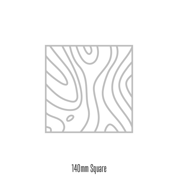 Square 140mm Invite  Popular size for symmetrical and contemporary designs