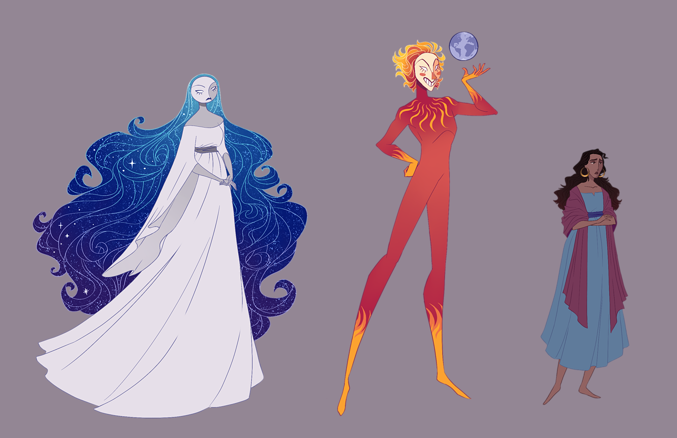 Hijo de la Luna - Character designs and visual development based on the song
