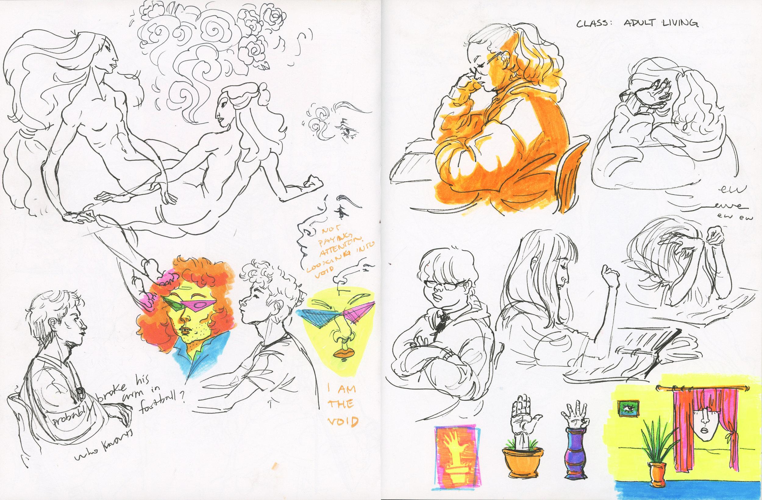 Sketchbook Page  Pen and marker