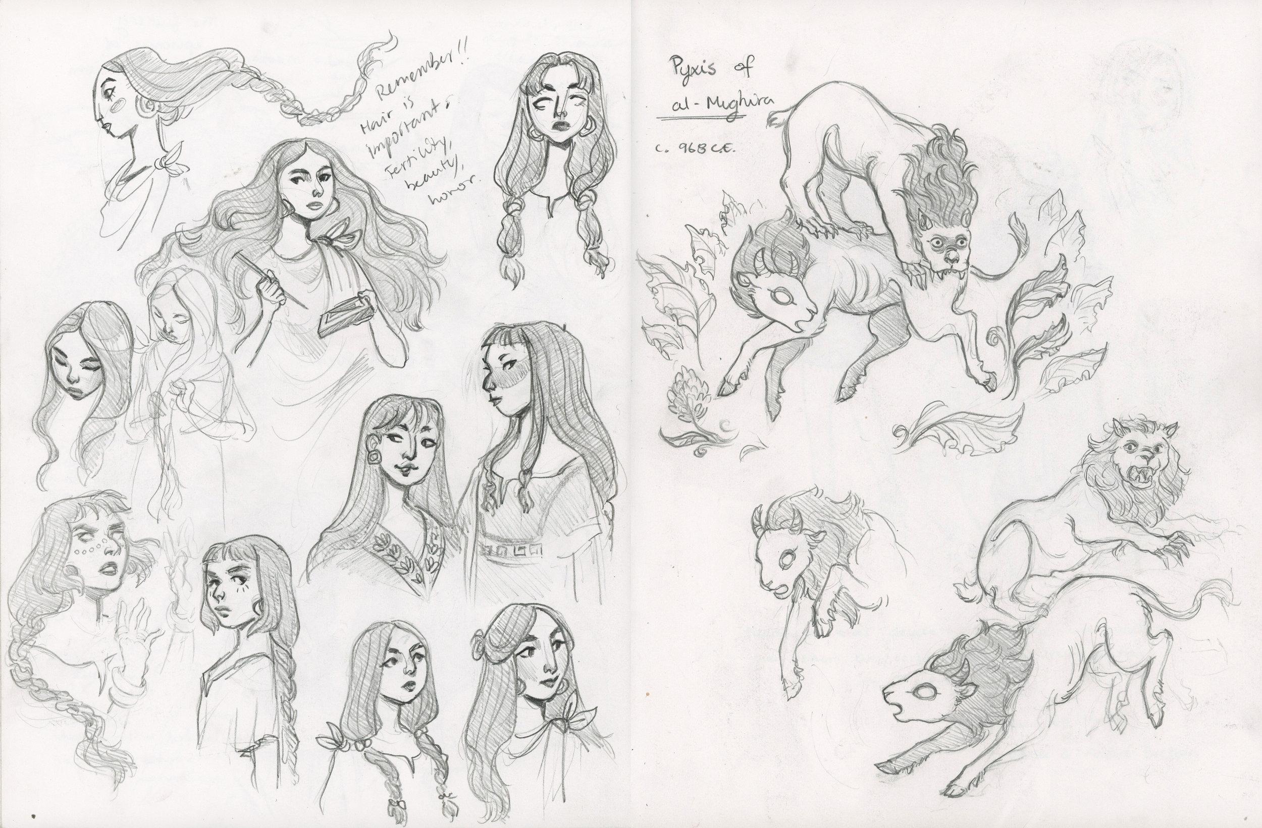 Sketchbook Page  Pencil