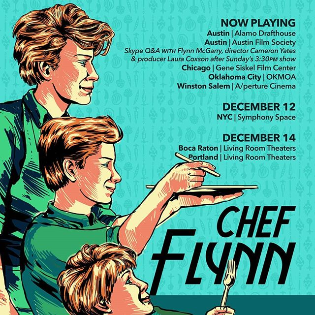 #ChefFlynnFilm is now playing in Austin, Chicago & more, coming (back) soon to New York, Portland & Boca. Tell your friends! Tickets at the link in our bio.
