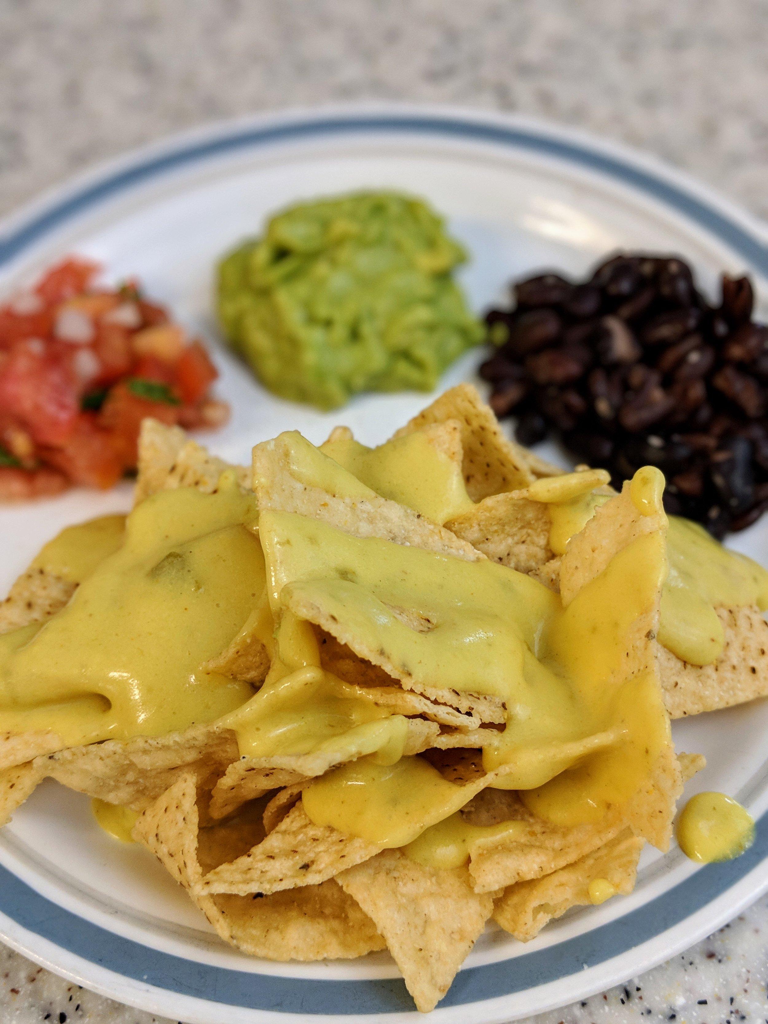 Easy Vegan Nacho Cheese/Queso -