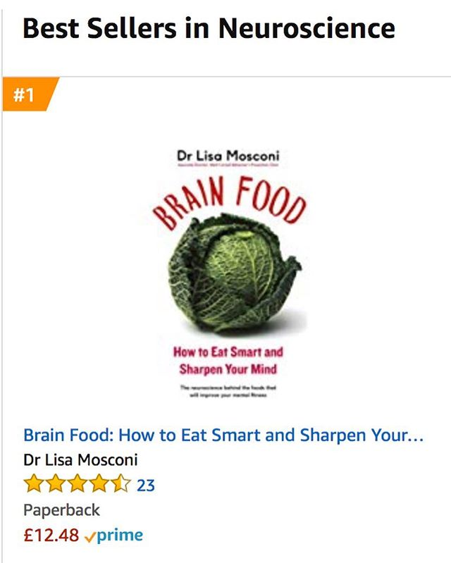 Seven months and still going strong! 🙏🏻 🌟  Thank you UK friends for making my book, Brain Food, an Amazon bestseller in 5+ categories including neuroscience and food science. Also THANK YOU for all the DMs, emails, tags, and posts. Truly grateful for the incredible feedback and support. I really hope you enjoy the book and the information is helpful to you. The research goes on — more news to come! Meanwhile, keep treating your brain like your best friend xo . . #uk #amazon #bestseller #brainfood #brainfoodbook #diet #nutrition #health #healthyfood #healthiswealth #research #brain #alzheimers #mentalhealth #healthylifestyle