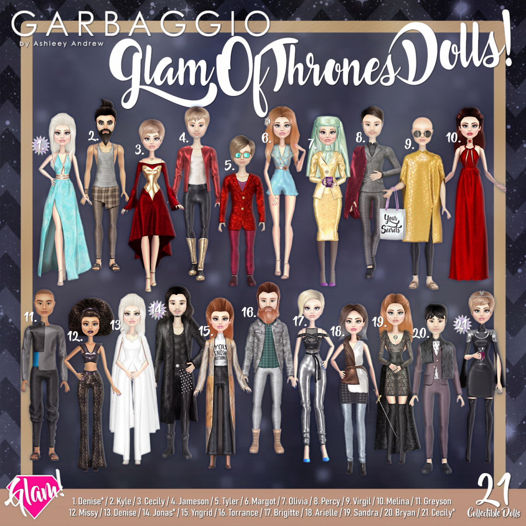 Garbaggio Glam Of Thrones Dolls Gacha Key.png