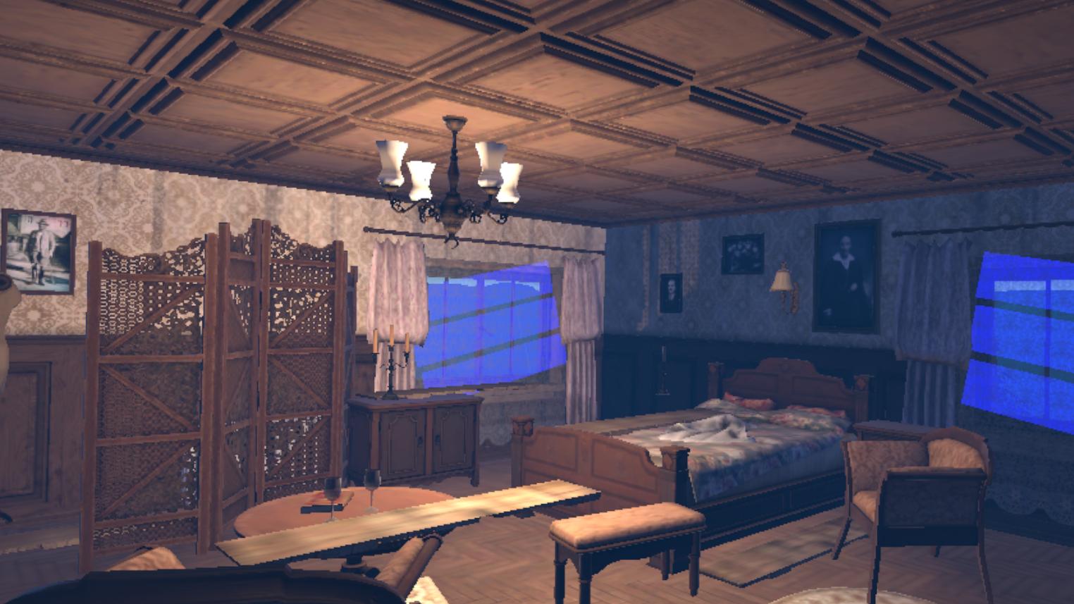 Historic VR reconstruction of WW2 blitz London house
