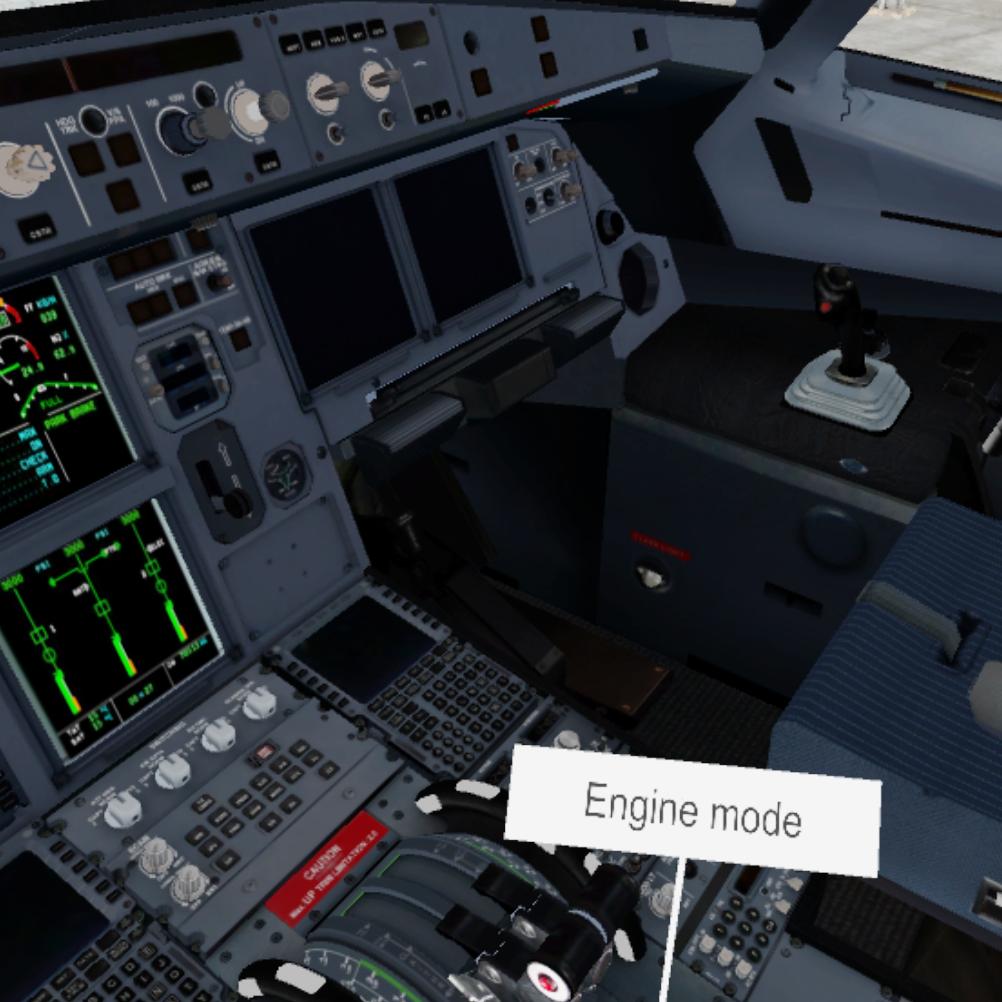 Airbus 320 cockpit VR