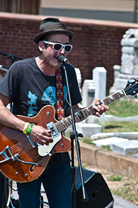 "Atlanta band Mermaids plays at Oakland Cemetery's ""Tunes From the Tombs"" event. Credit: Nickmicholas/Flickr"