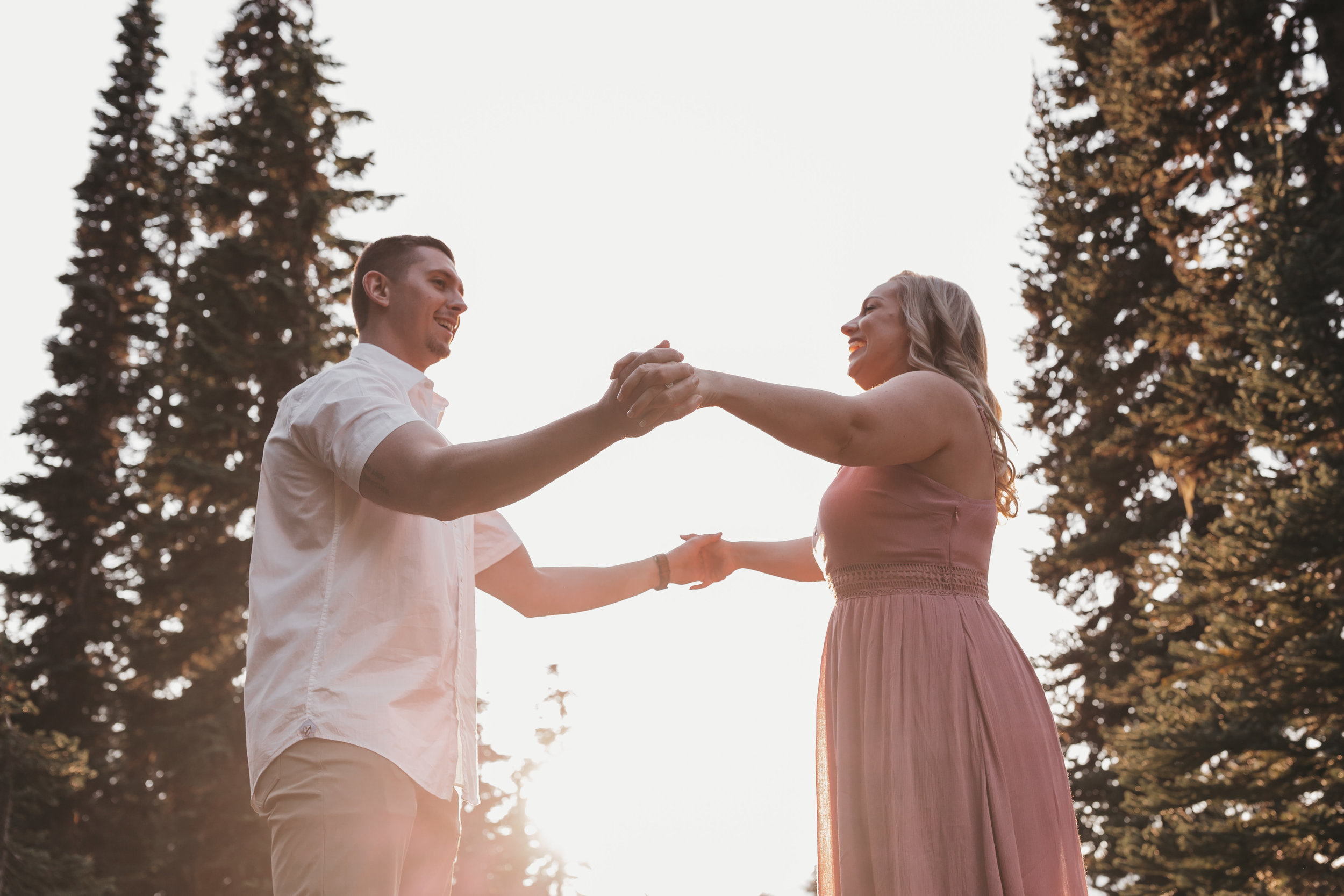 Mount Rainier Engagement Session from a Washington Wedding Photographer