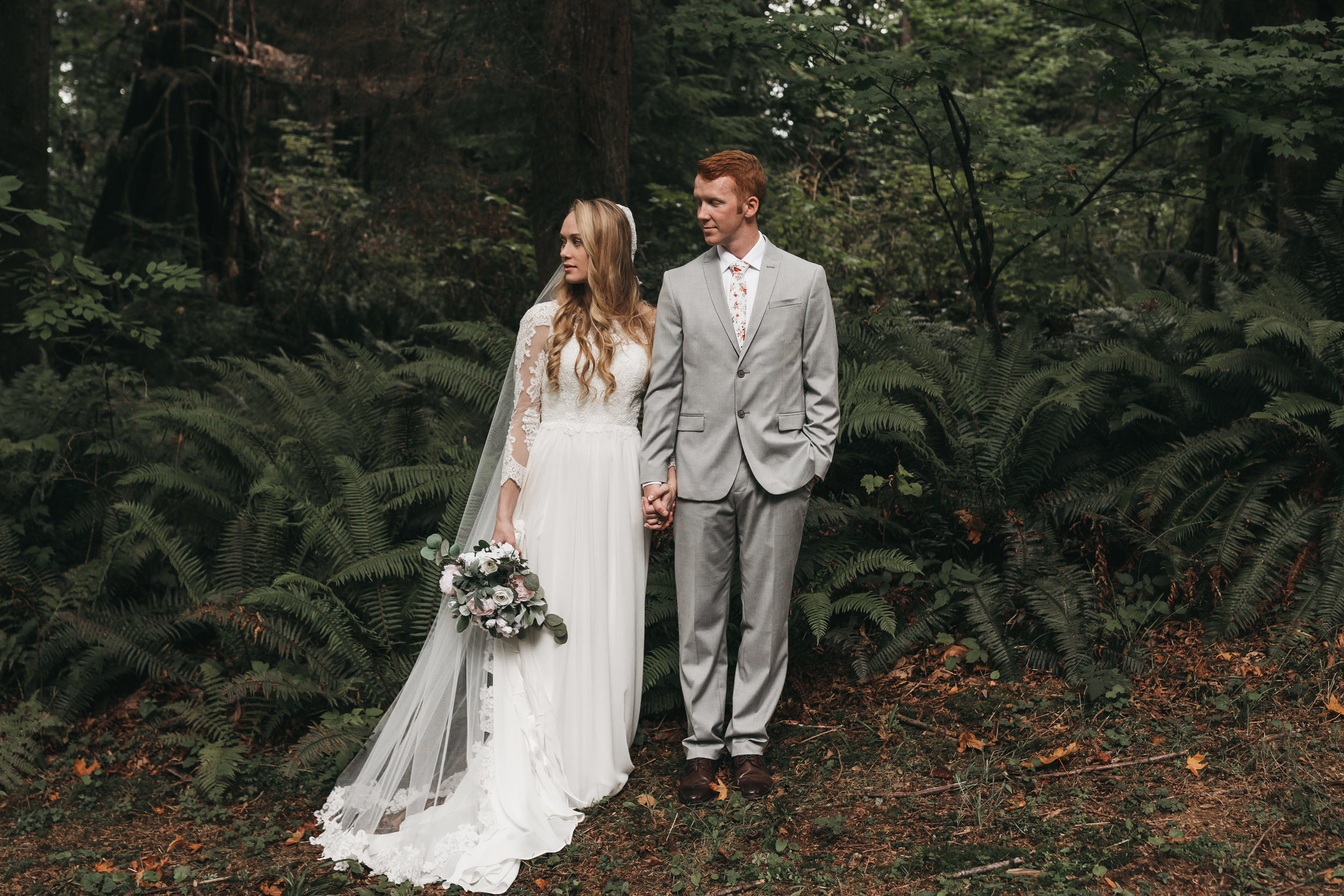 Intimate Seattle Outdoor Forest Wedding. Between the Pine- Adventure Wedding and Elopement Photography Seattle, WA