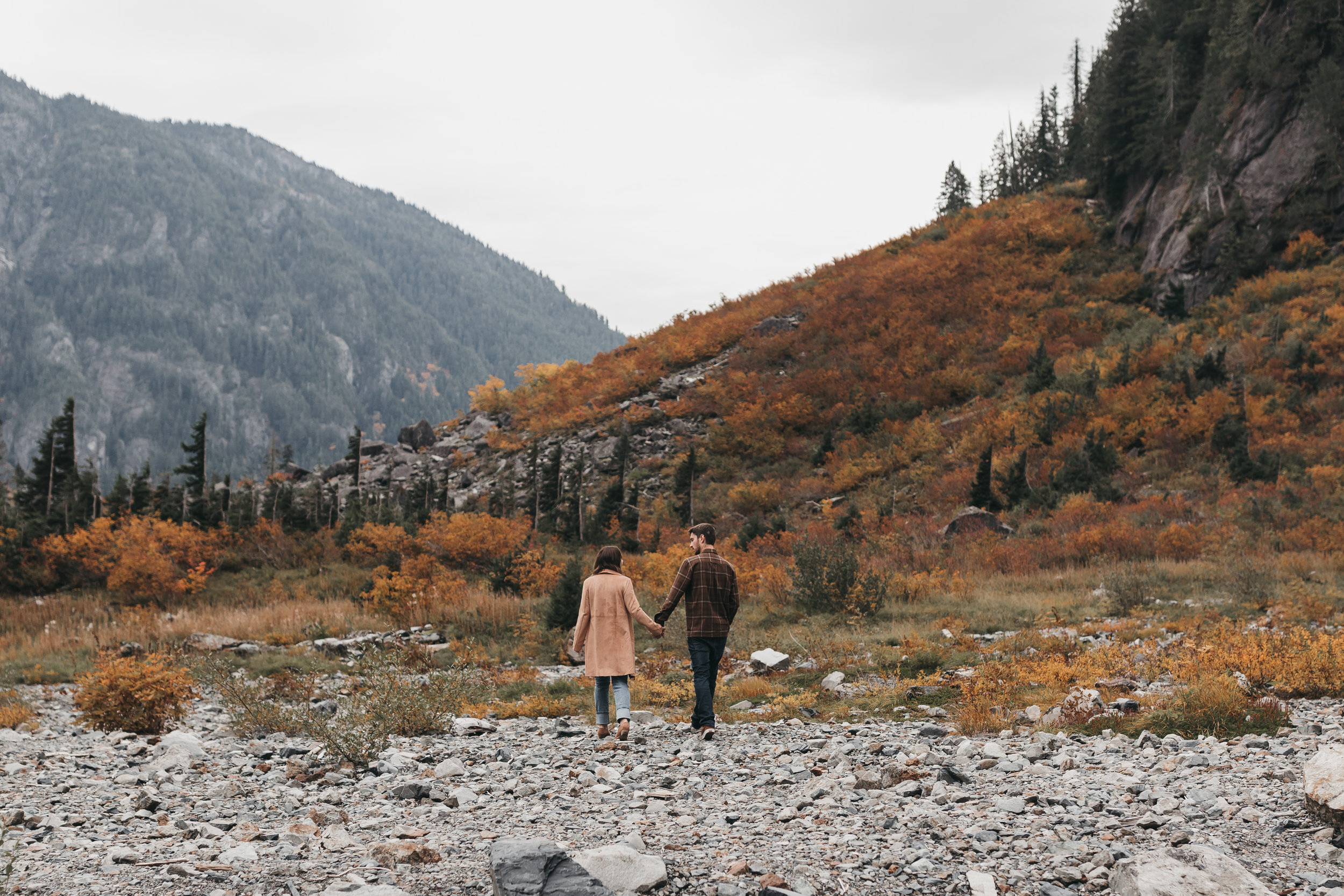 Big Four Autumn Adventure Session. Between the Pine- Adventure Wedding and Elopement Photography Seattle, WA