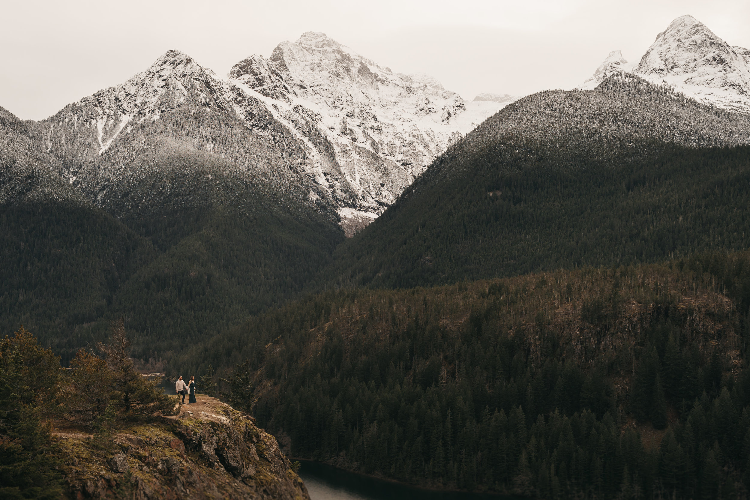 Diablo Lake Engagement Session- North Cascades National Park. Between the Pine- Seattle, WA. Wedding and Elopement Photographer