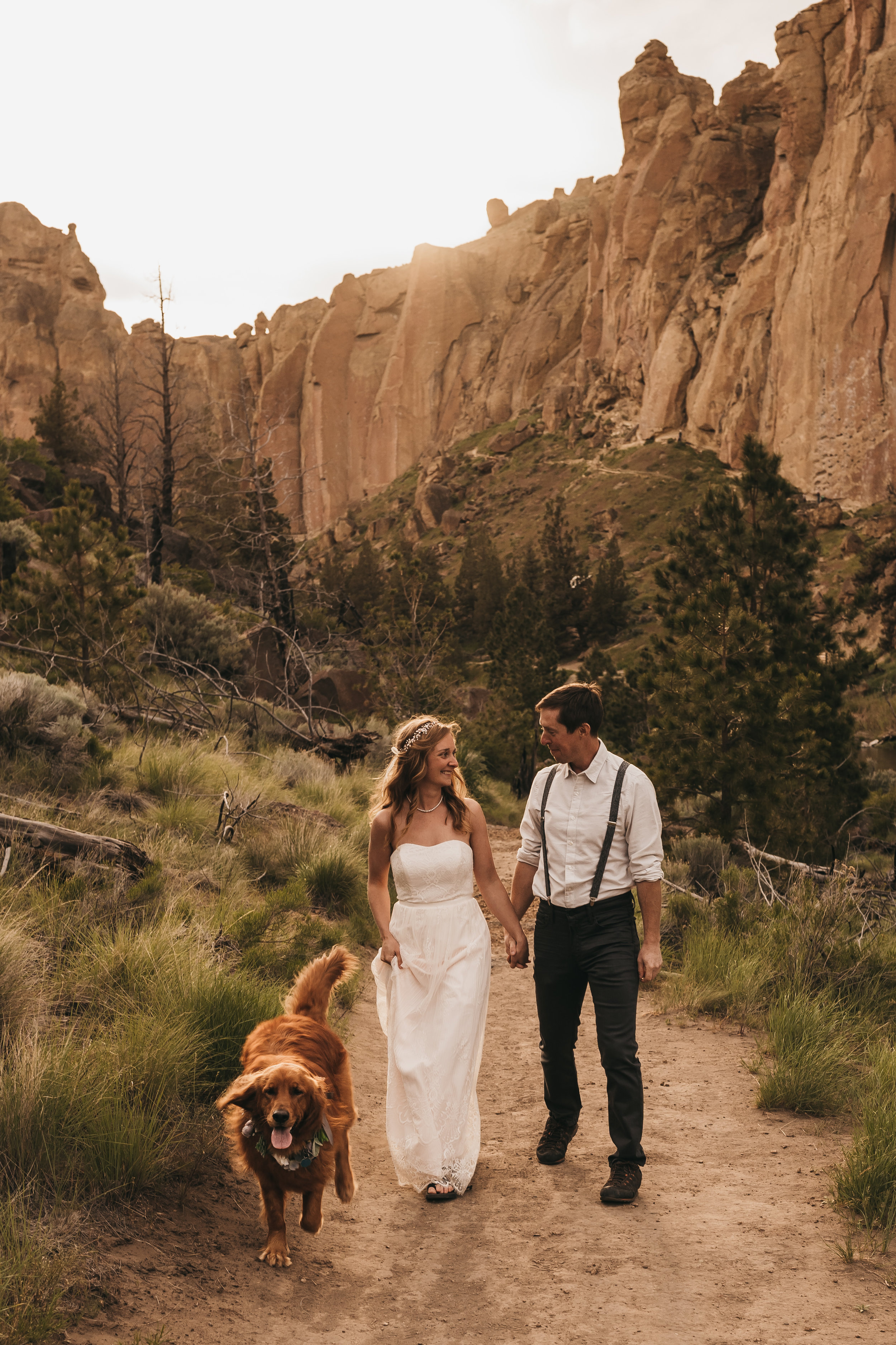 Smith Rock State Park Sunset Photo Session | Between the Pine Adventure Elopement Photography