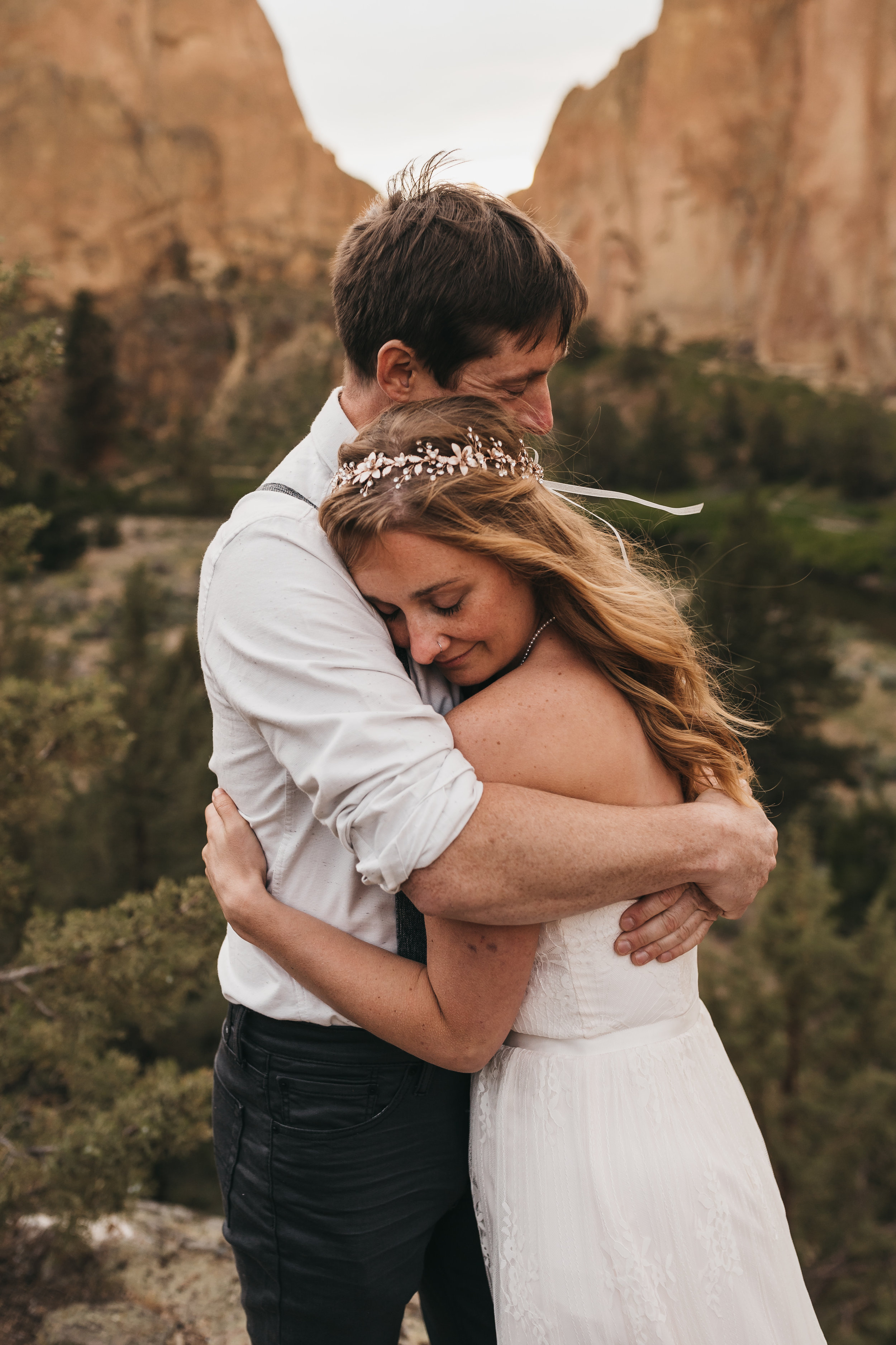 Smith Rock State Park Elopement: A Sunset Adventure | Between the Pine Adventure Elopement Photography