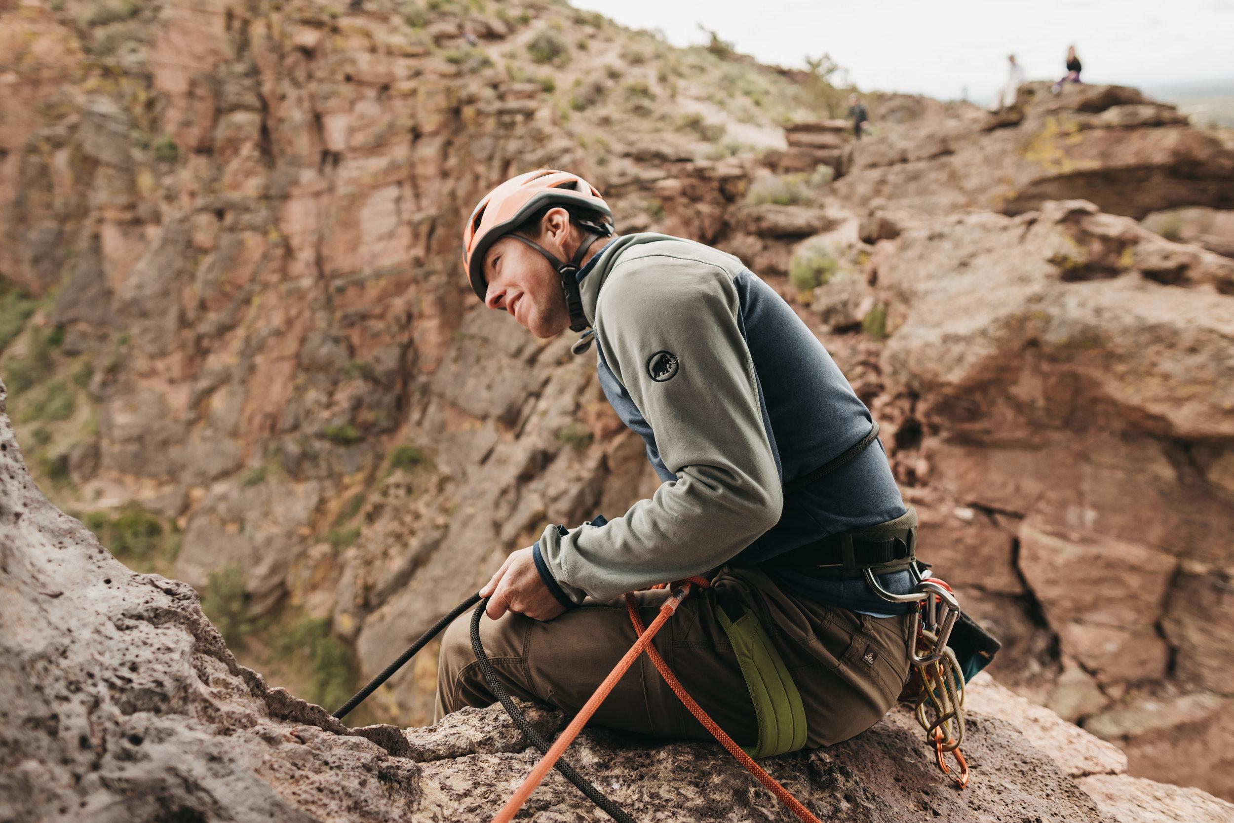 Smith Rock Rock Climbing Elopement | Between the Pine Adventure Elopement Photography