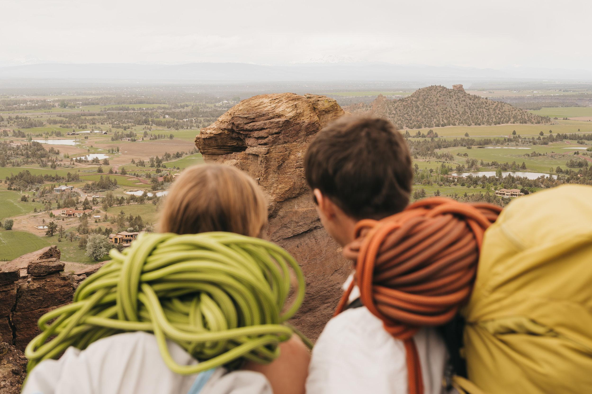Smith Rock Climbing Elopement | Between the Pine Adventure Elopement Photography