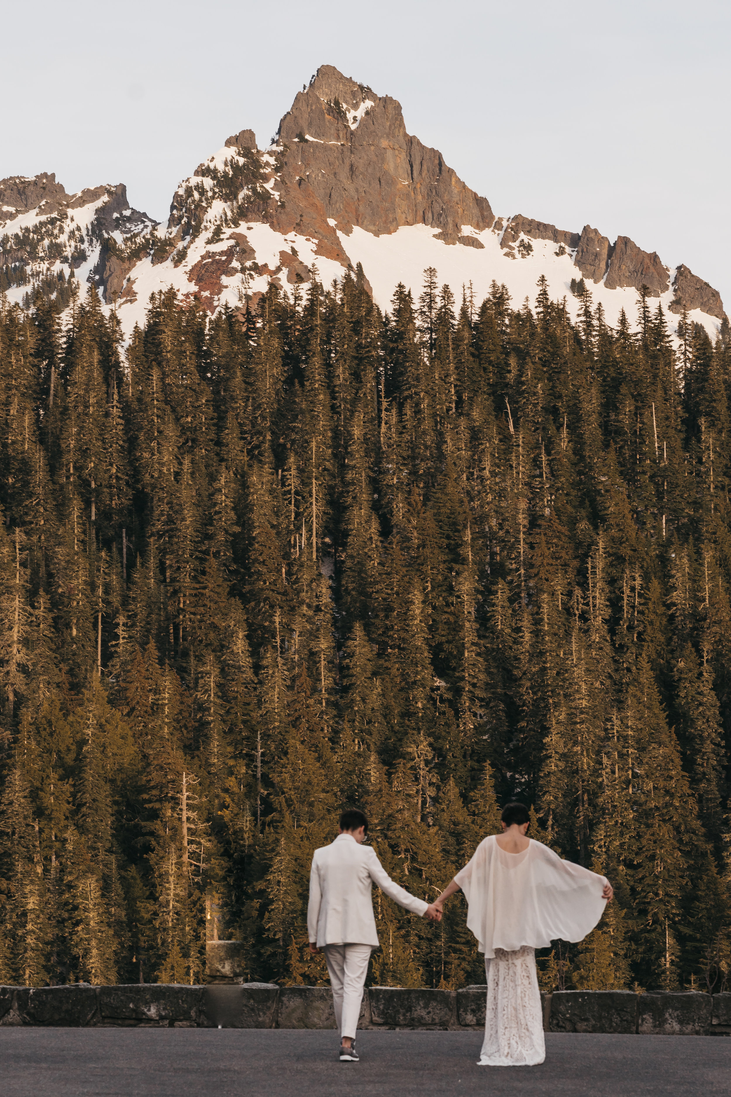 Mt Rainier Elopement   Between the Pine Adventure Elopement Photography