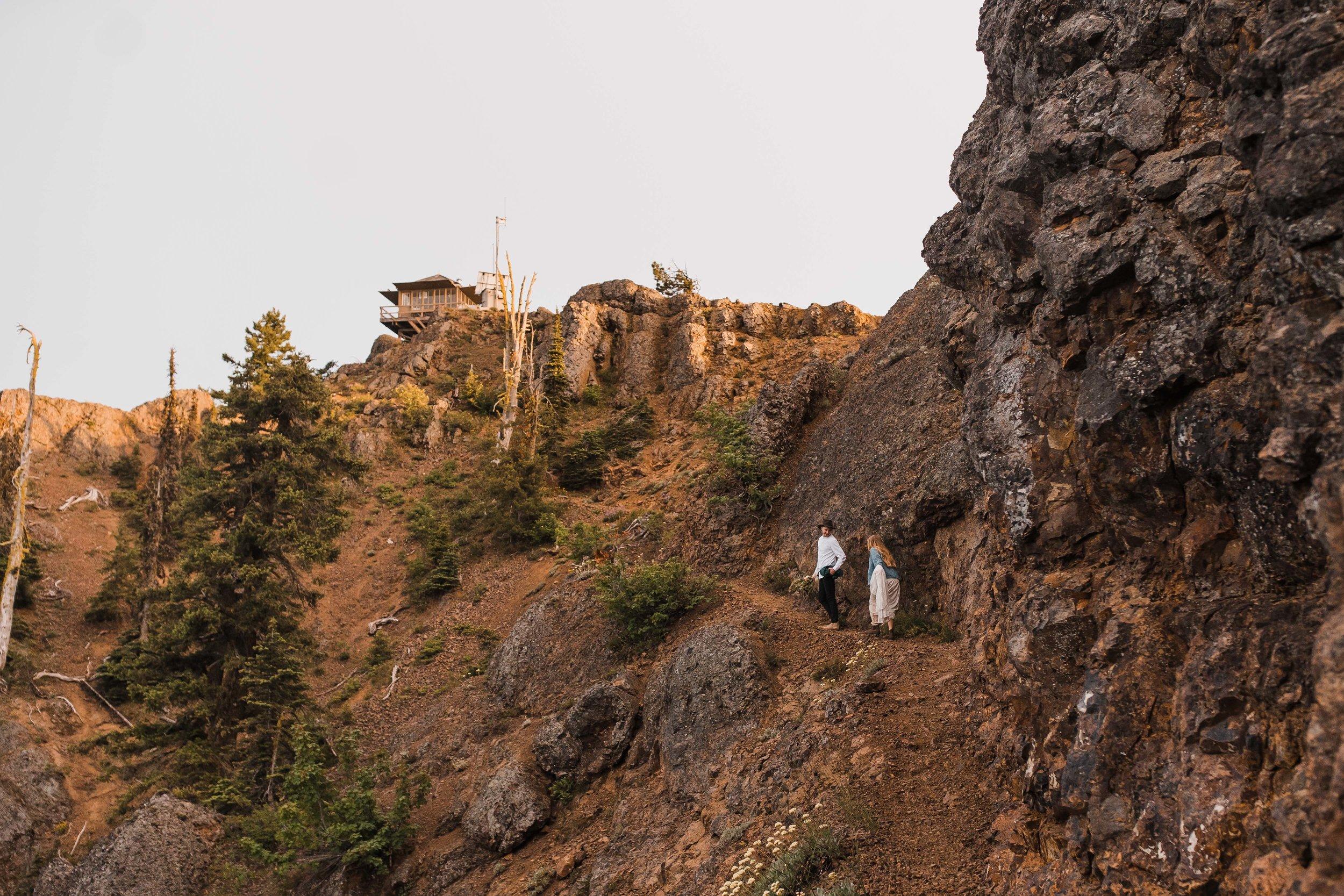 Washington Fire Lookout Elopement| Between the Pine Adventure Elopement Photography