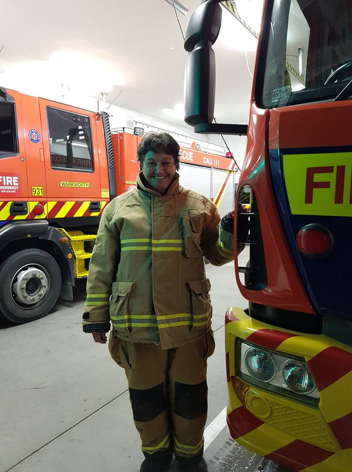 As a volunteer in the Warkworth brigade you'll often find Gaye dressed as a Firefighter!