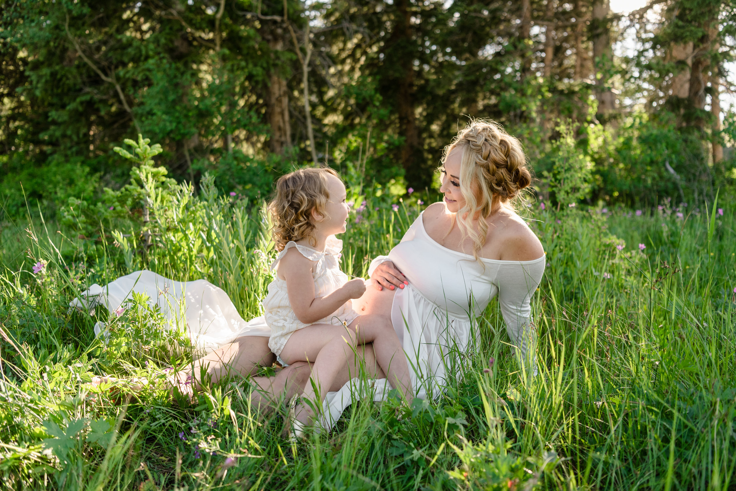 The sweetest of sweet mother and daughter moments.